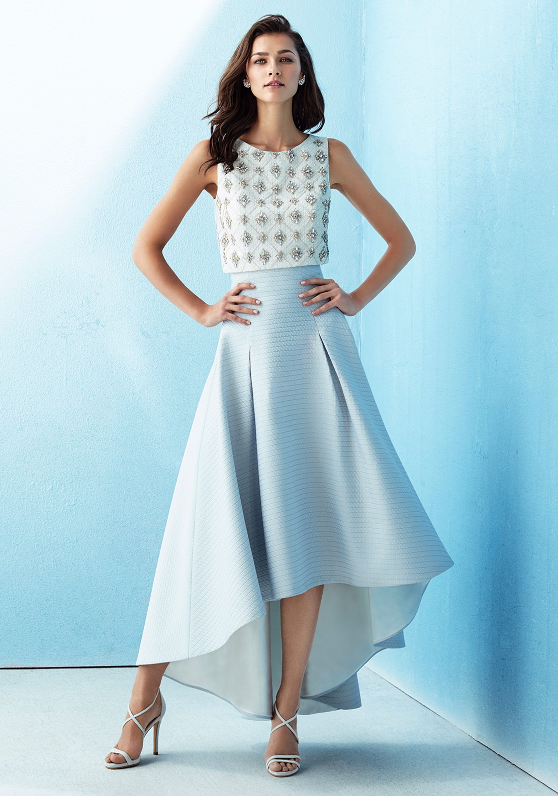 94522de49775 Marfil Two Piece Top & Skirt Occasion Outfit, Blue | McElhinneys