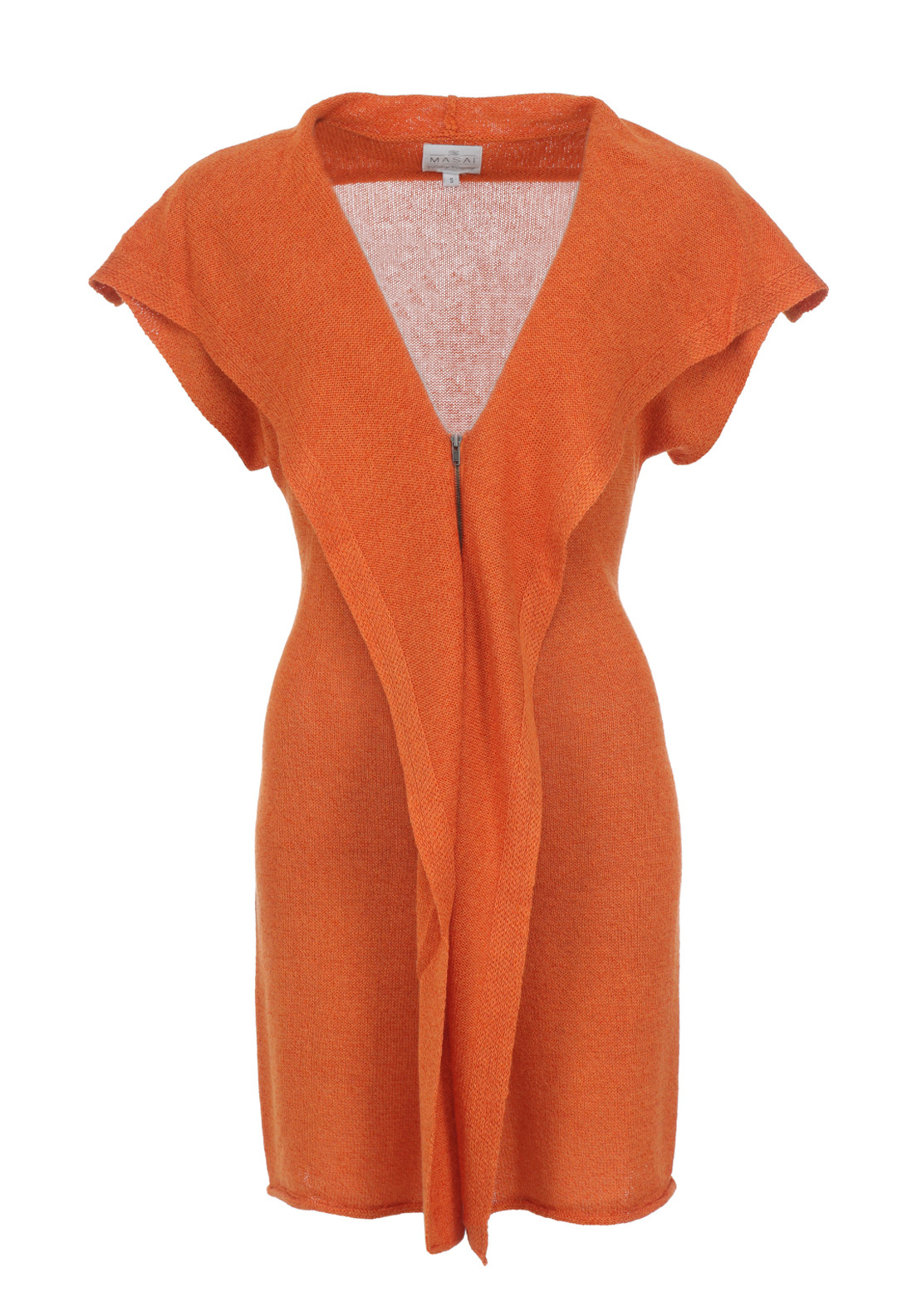 The Masai Clothing Company Luba Sleeveless Cardigan, Orange