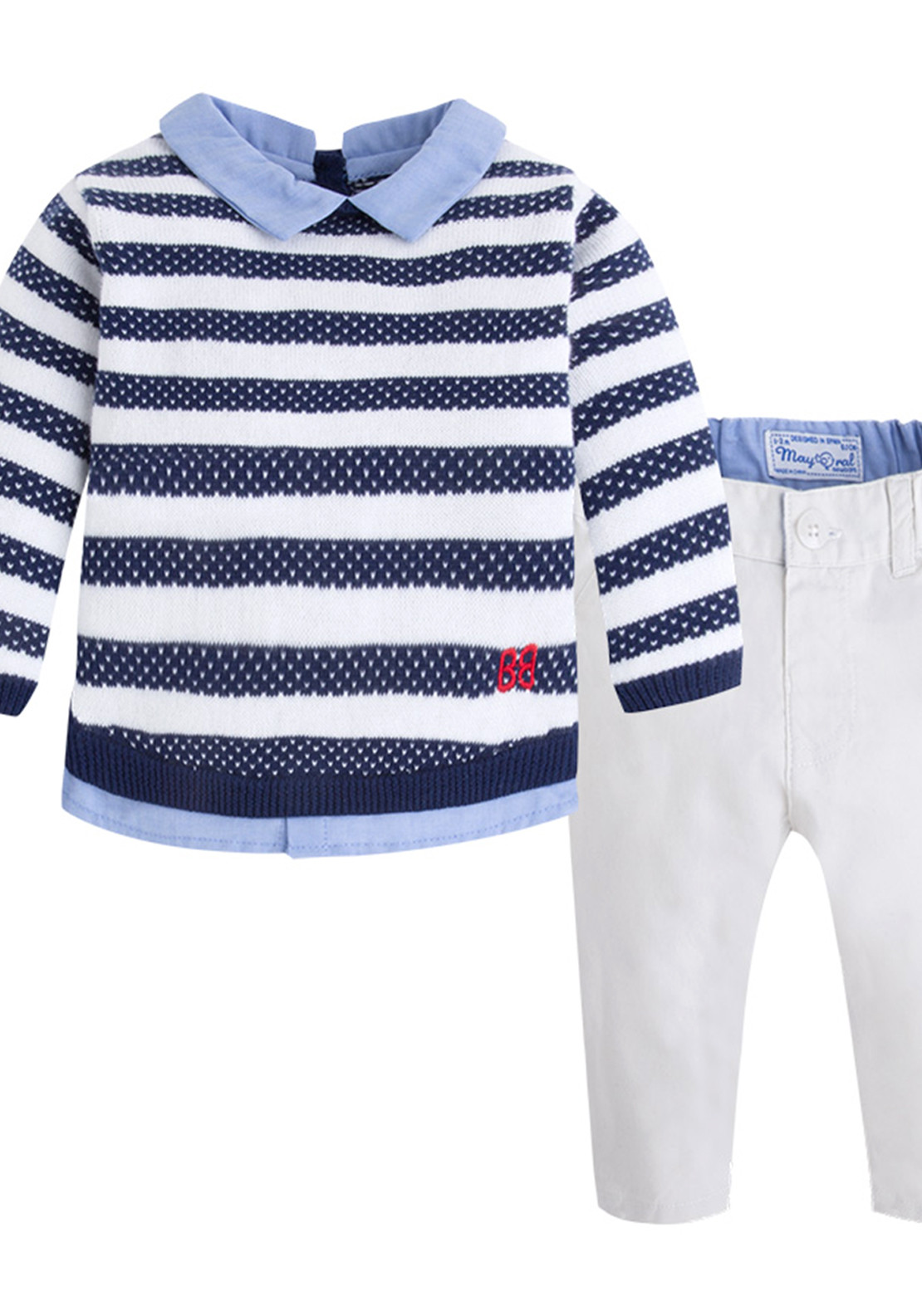 Mayoral Baby Boys Jumper and Trousers, Multi