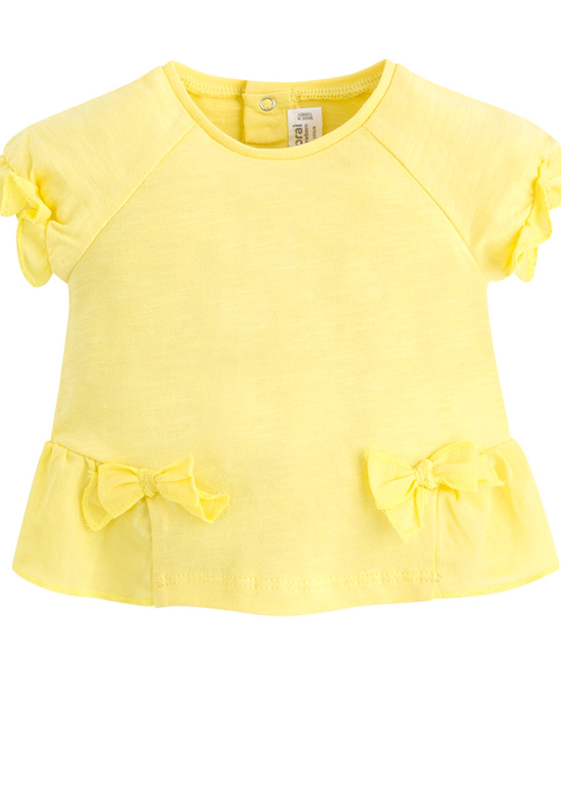 efdf4229b1ef62 Mayoral Baby Girls Bow Frill Top