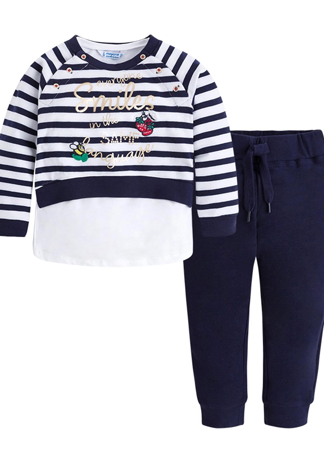 212f1a57c97d6e Mayoral Girls Three Piece Tracksuit, Navy | McElhinneys