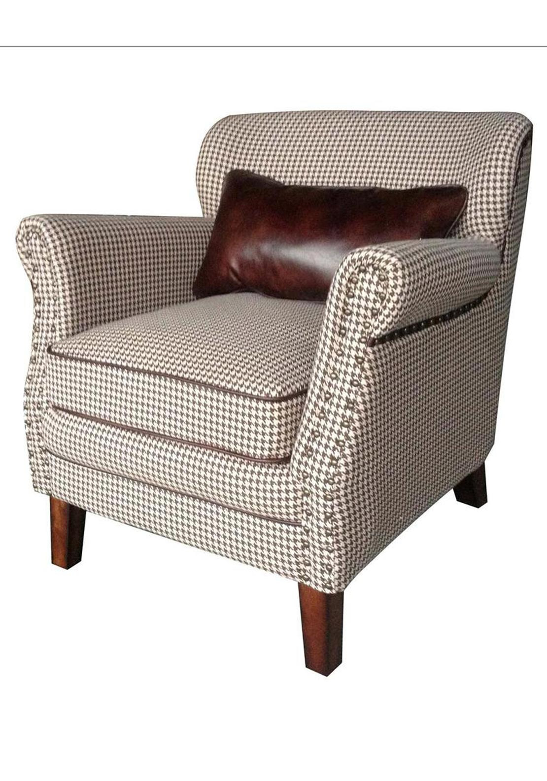 Mindy Brownes Lexi Armchair, Hound Tooth