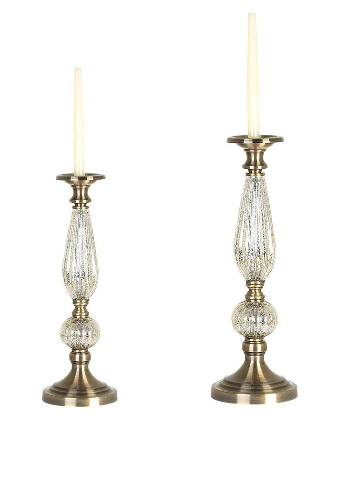 Mindy Brownes Sabrian Candle Holder Set of Two, 18 & 14 inches