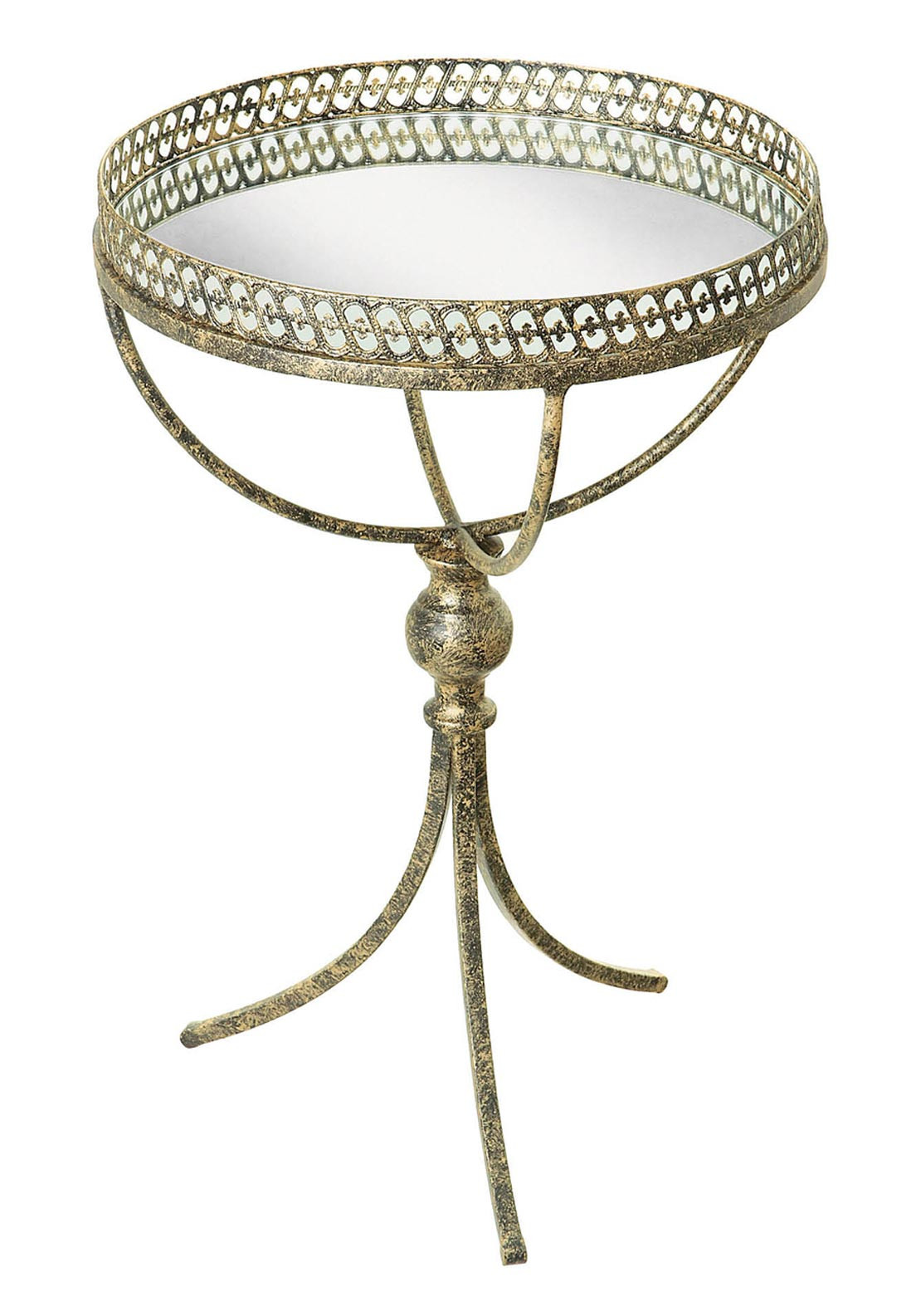 Mindy Brownes Mirror Top Serving Table, Gold