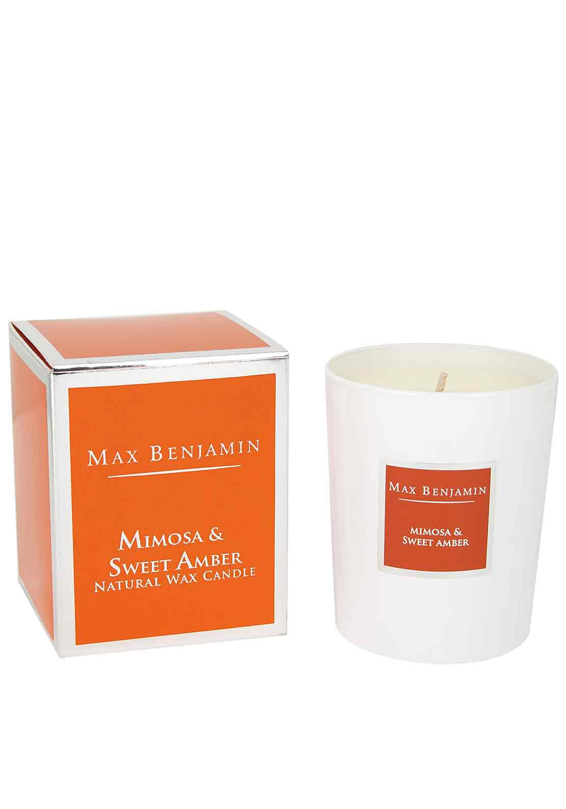 Max Benjamin Mimosa & Sweet Amber Scented Candle