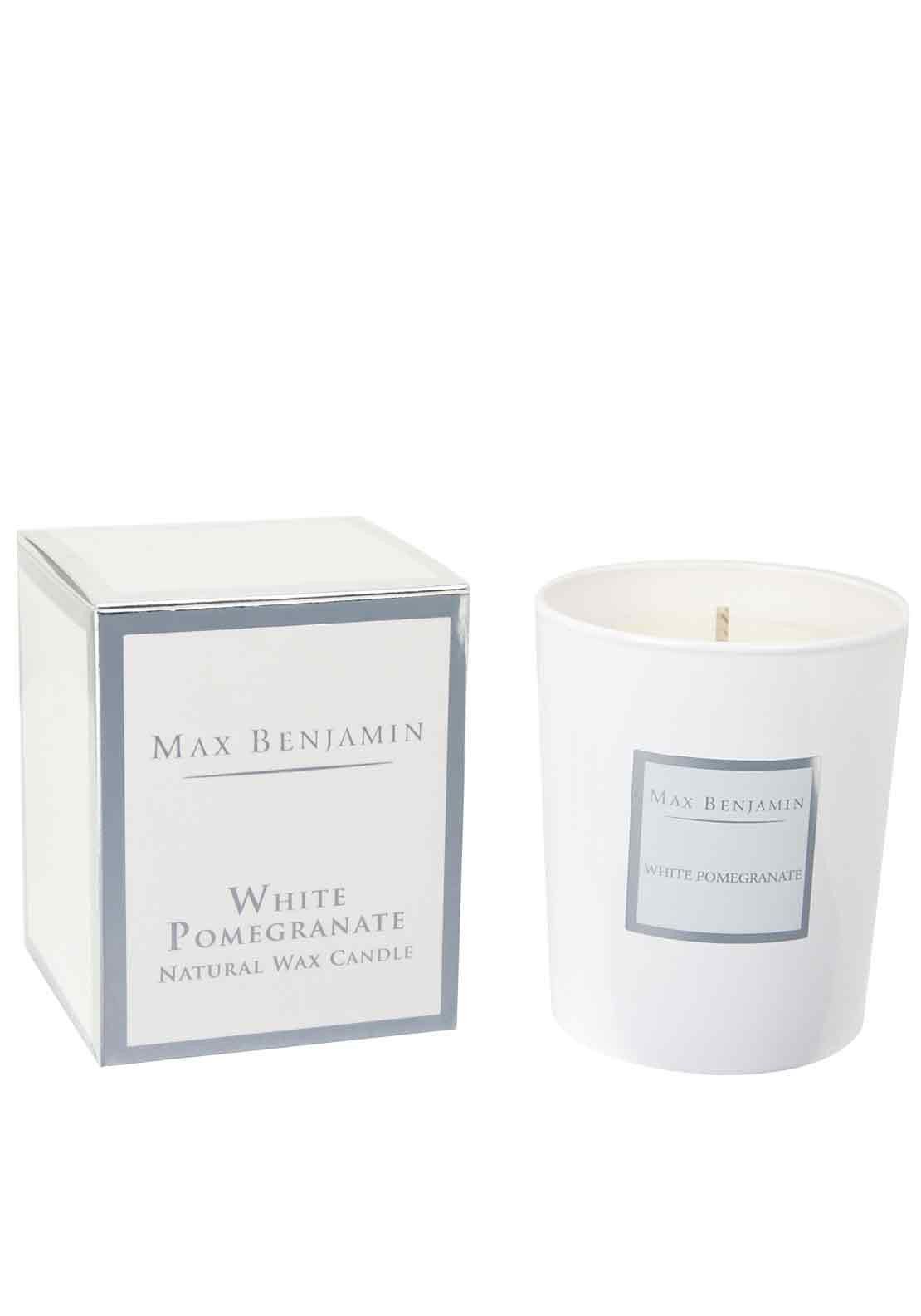 Max Benjamin White Pomegranate Scented Candle