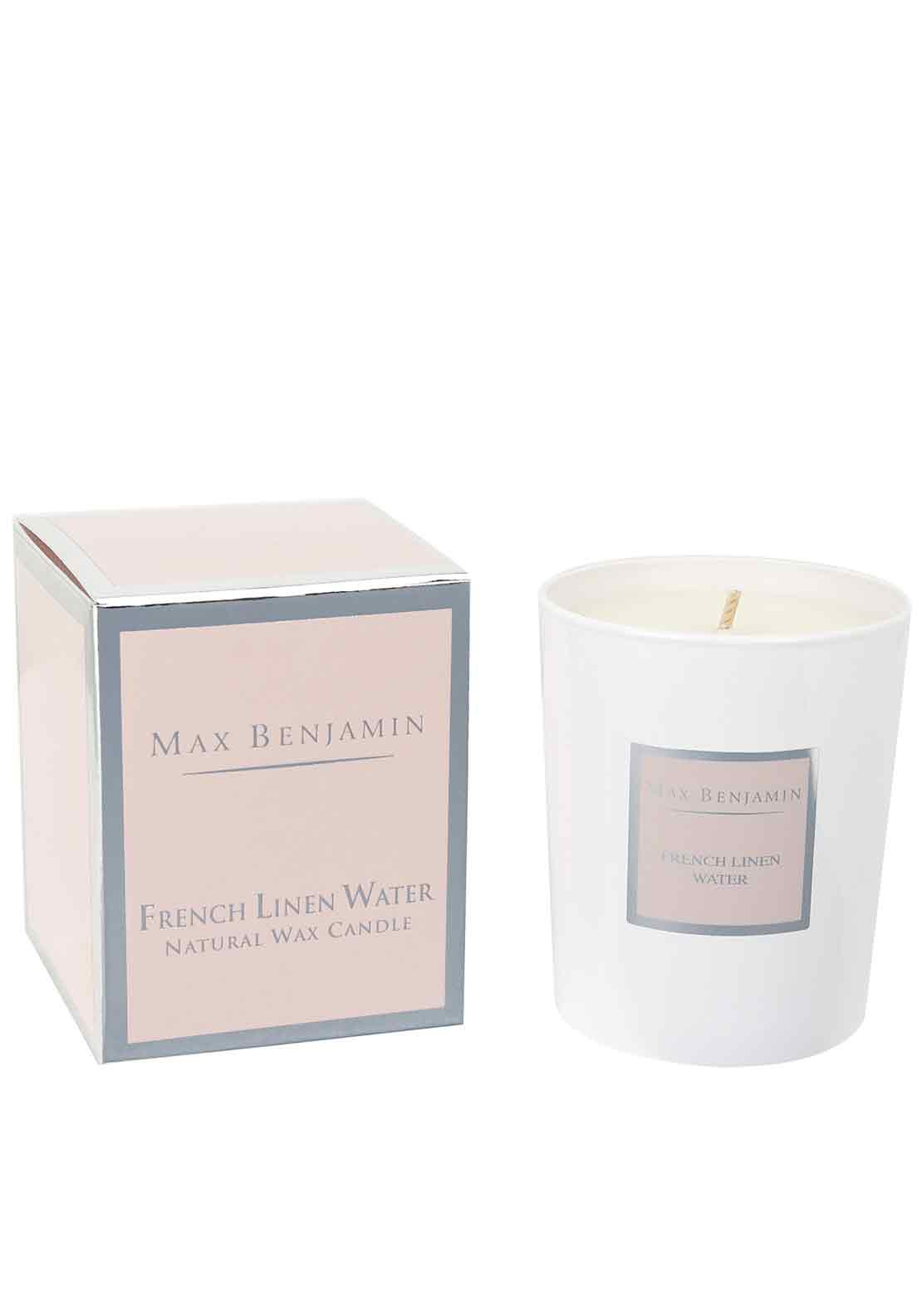 Max Benjamin French Linen Water Scented Candle