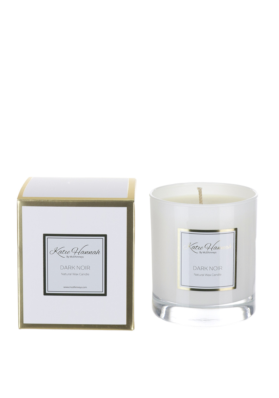 Katie Hannah By McElhinneys Dark Noir Natural Wax Candle