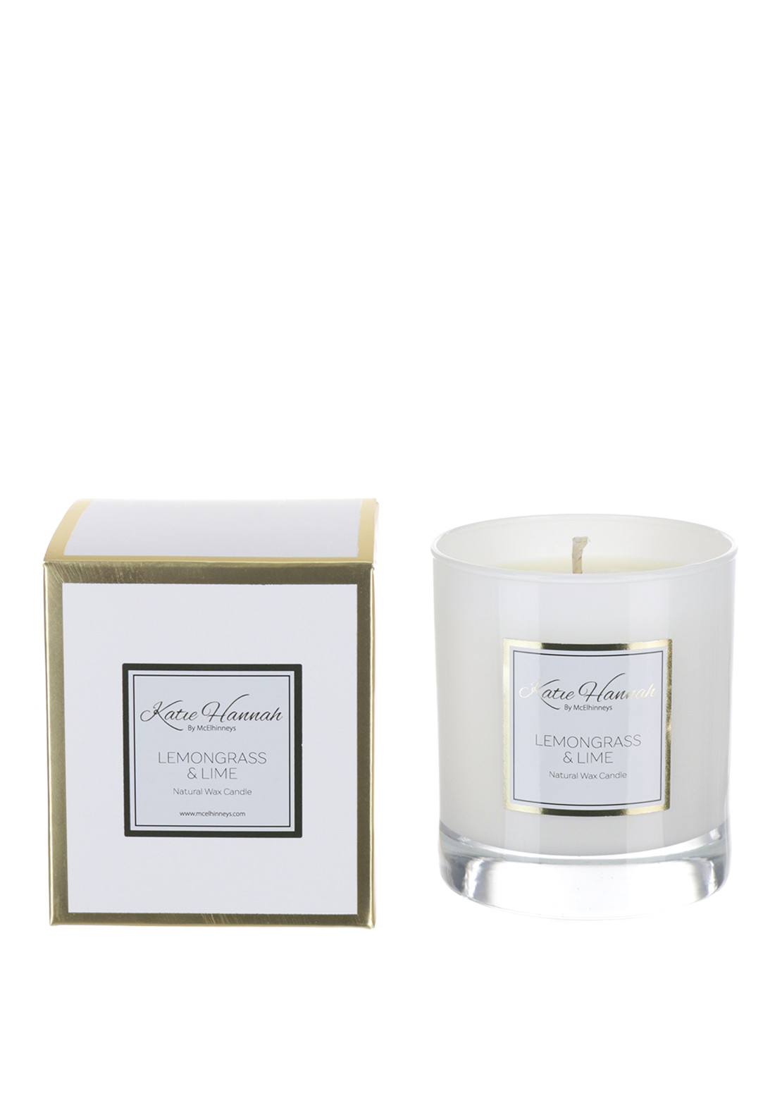 Katie Hannah By McElhinneys Lemongrass & Lime Natural Wax Candle