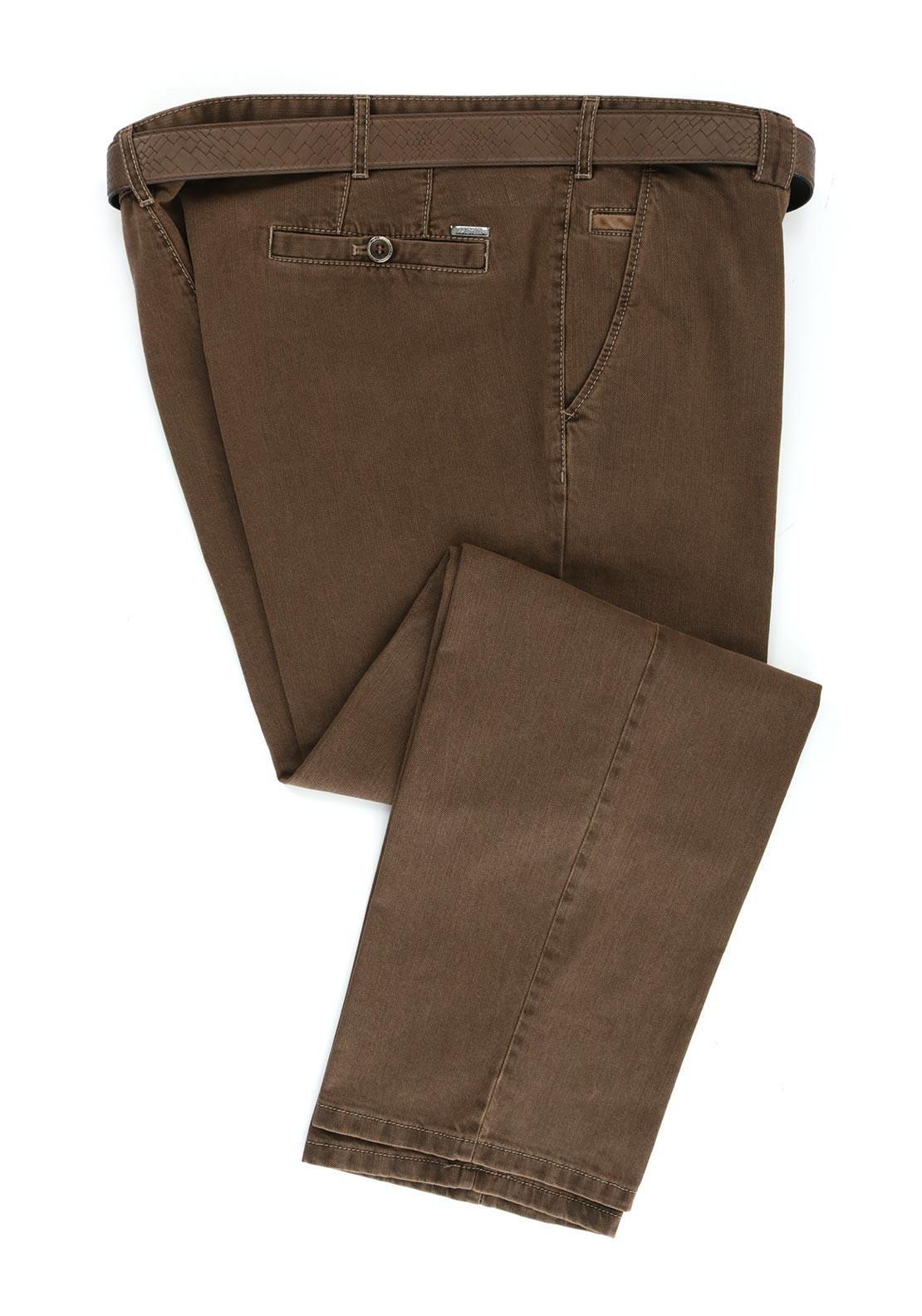 Meyer Roma Cotton Chino Trousers, Taupe