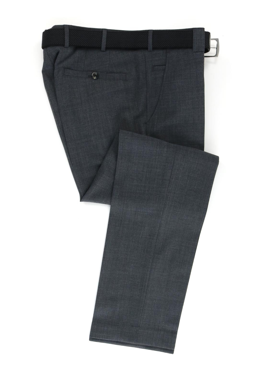 Meyer Mens Roma Comfort Fit Formal Trousers, Grey