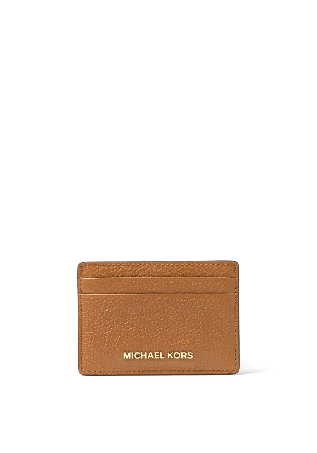 86acbe5ed4af MICHAEL Michael Kors Leather Card Case, Acorn | McElhinneys