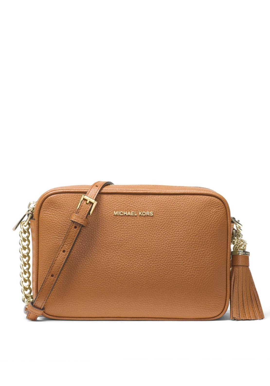 release info on great discount for enjoy bottom price MICHAEL Michael Kors Ginny Leather Crossbody Bag, Acorn