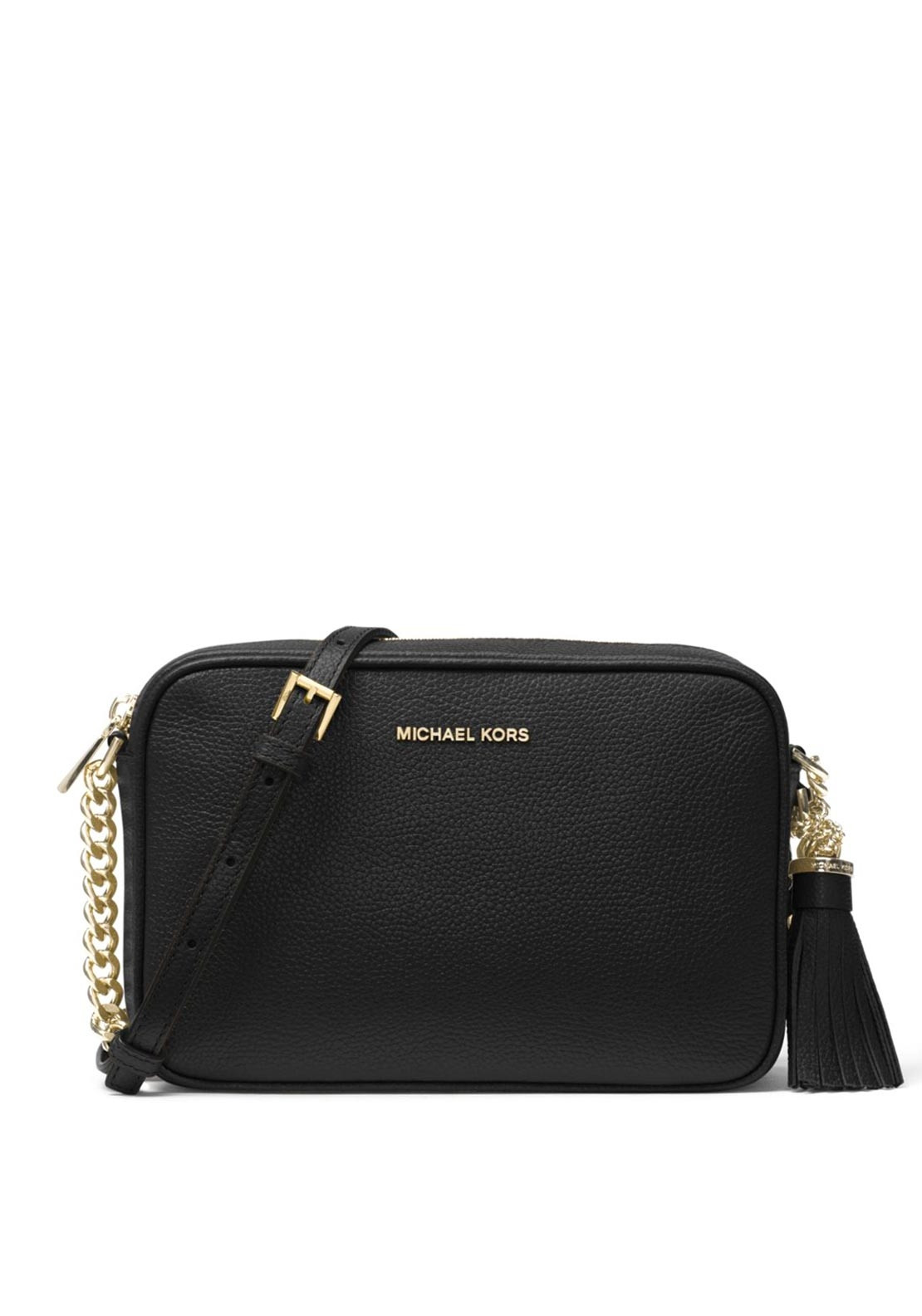667b84eae MICHAEL Michael Kors Ginny Leather Crossbody Bag, Black. Be the first to  review this product
