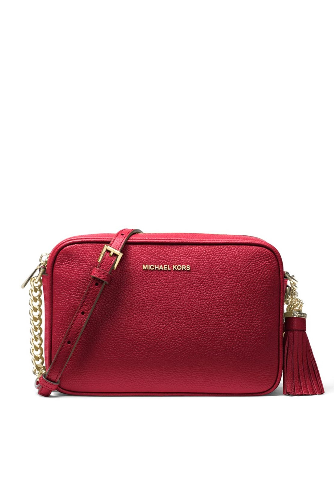 f5632265490c MICHAEL Michael Kors Ginny Leather Crossbody Bag, Maroon. Be the first to  review this product