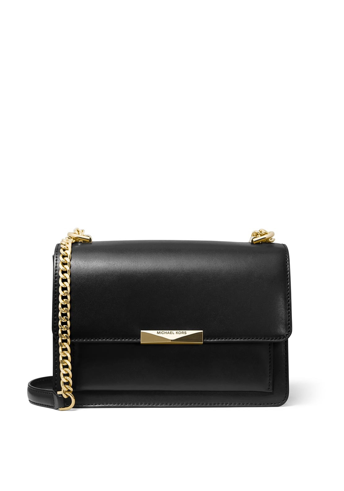 dfc8783075ae37 MICHAEL Michael Kors Jade Leather Shoulder Bag, Black. Be the first to  review this product