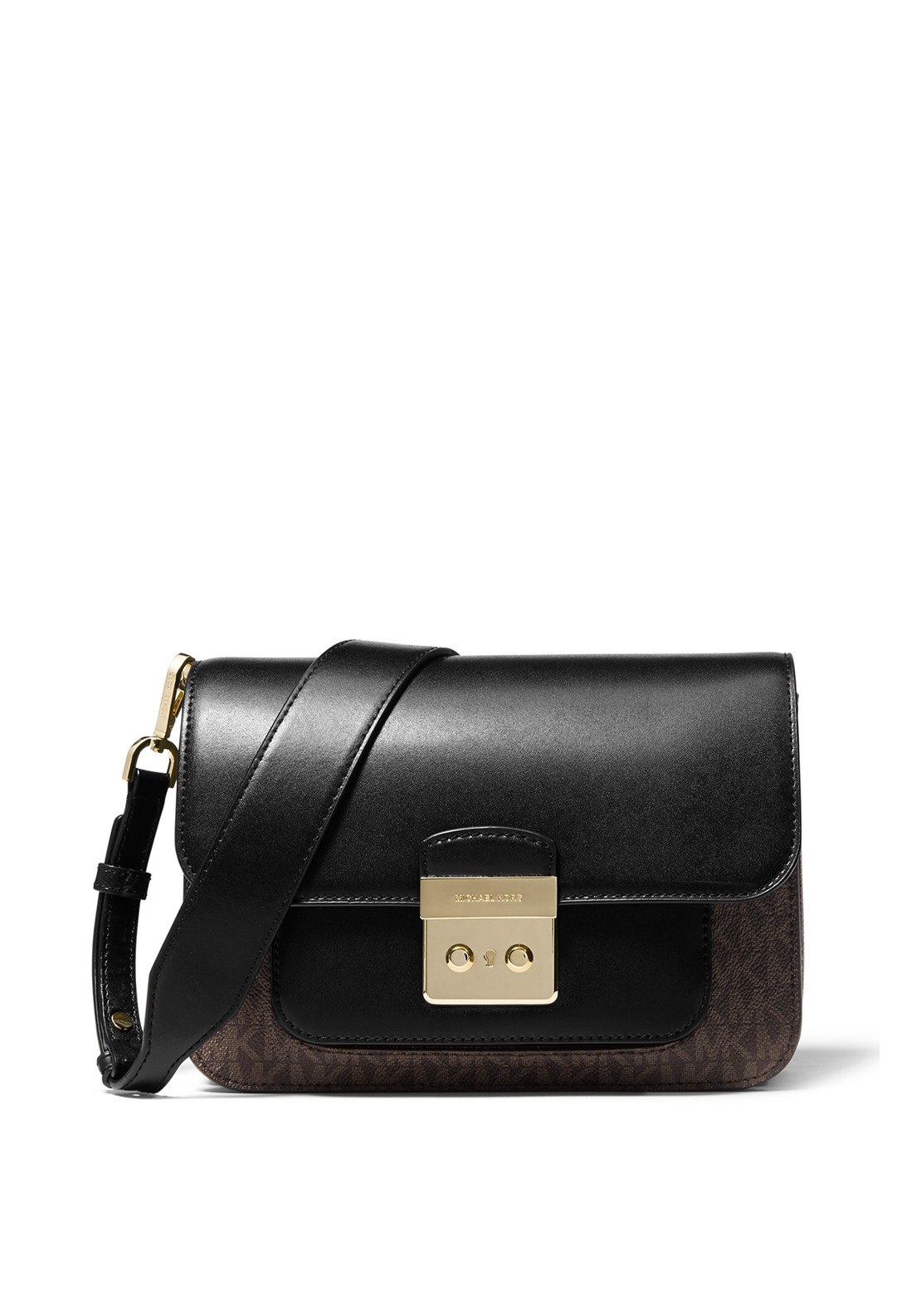 5042ce9532e6 MICHAEL Michael Kors Sloan Editor Logo Shoulder Bag Brown/Black. Be the  first to review this product