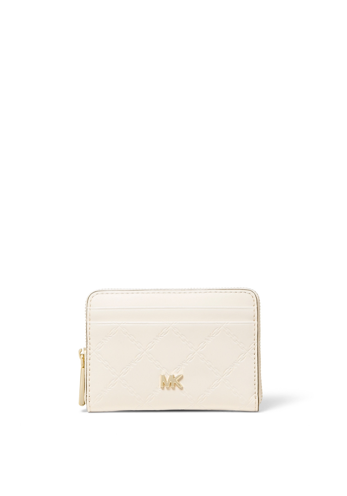 cda947cca98f MICHAEL Michael Kors Small Chain Embossing Leather Wallet, Cream. Be the  first to review this product