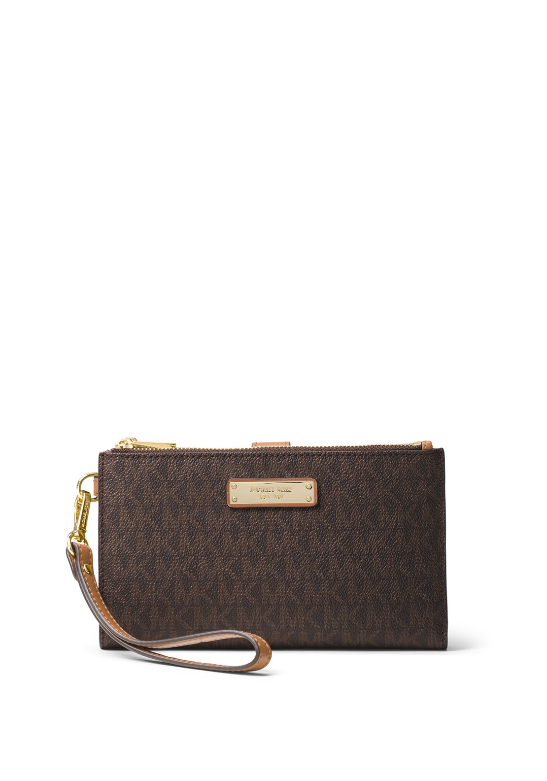 4cb5798b0497 MICHAEL Michael Kors Adele Leather Wristlet Wallet, Brown. Be the first to  review this product