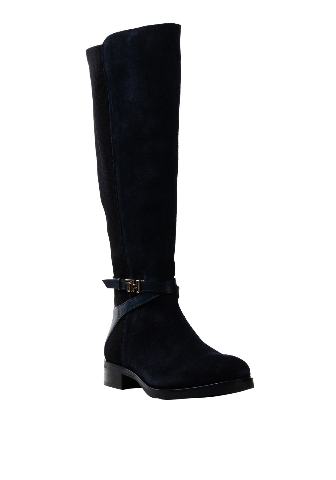 Tommy Hilfiger Womens Suede Long Boots