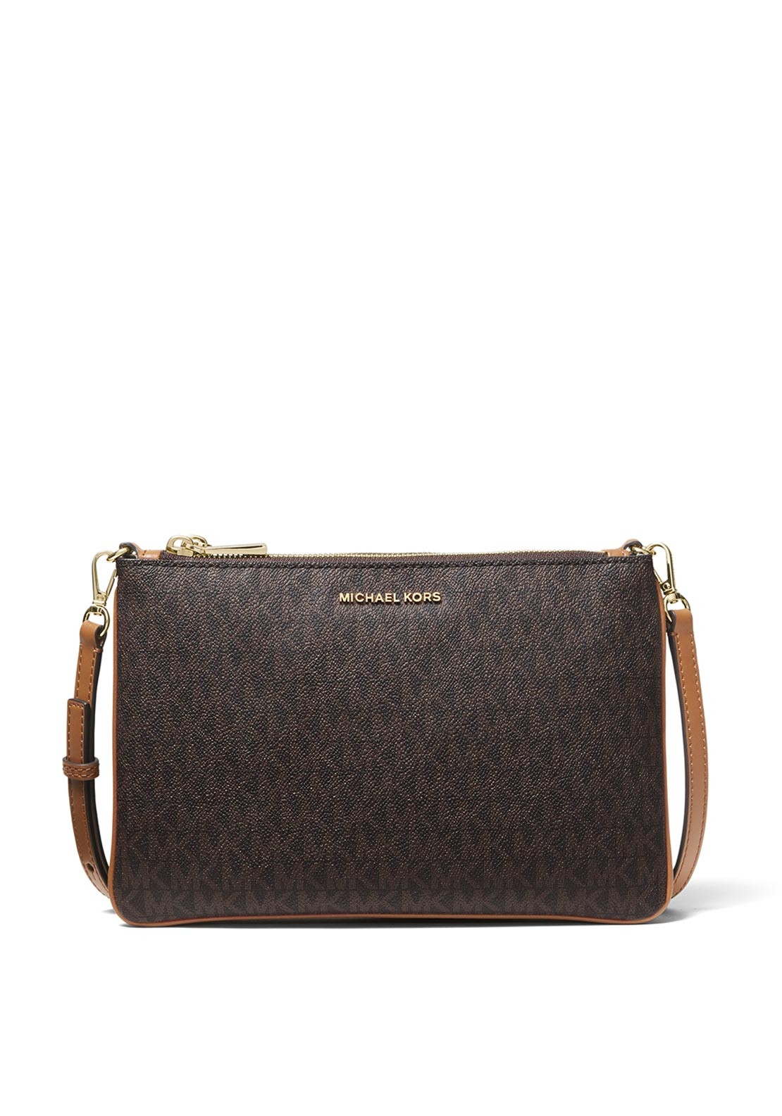 5bd2414d3f8e MICHAEL Michael Kors Leather Crossbody Bag, Brown. Be the first to review  this product
