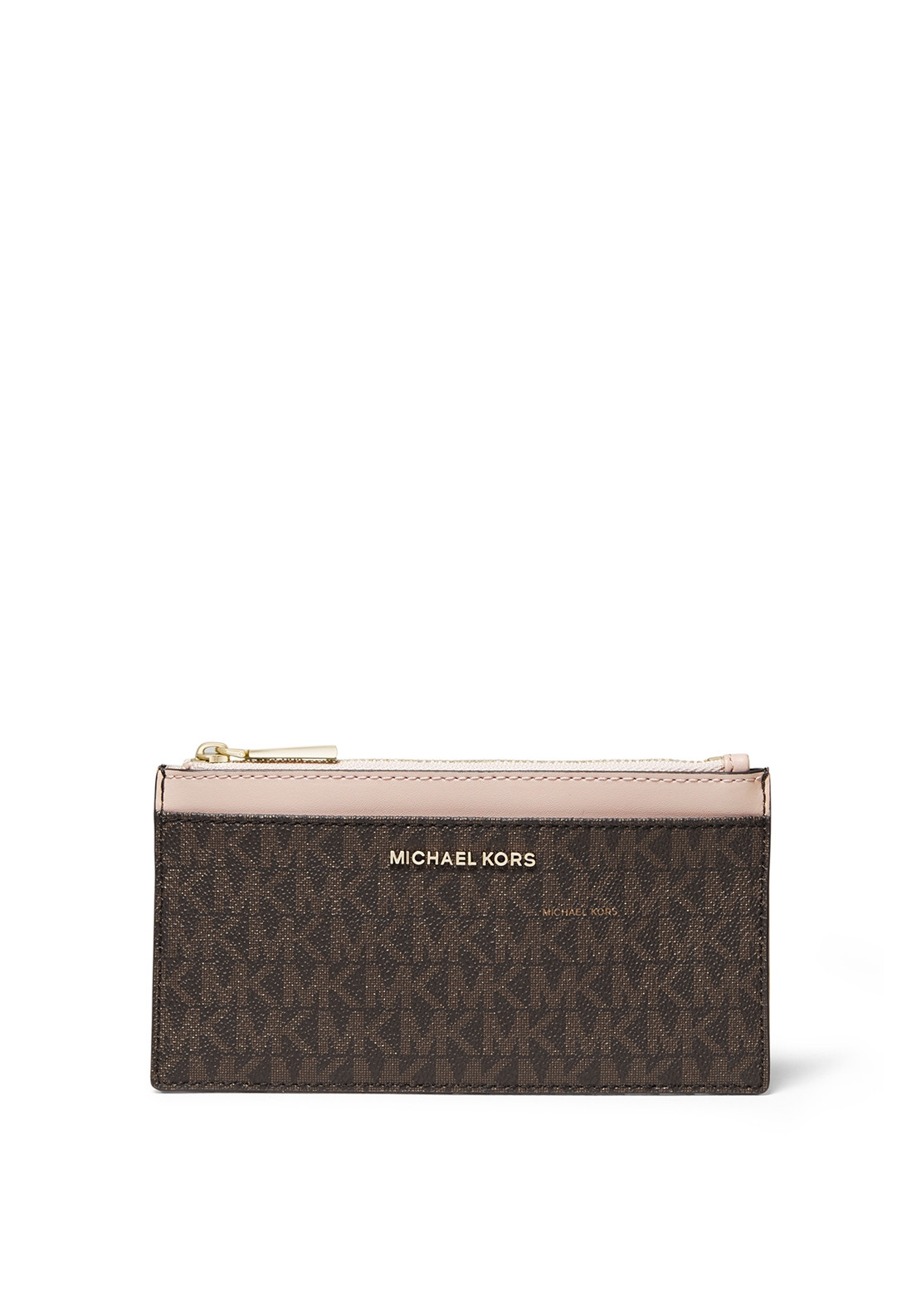 8c8db36436a3 MICHAEL Michael Kors Slim Leather Card Case, Brown & Soft Pink. Be the  first to review this product