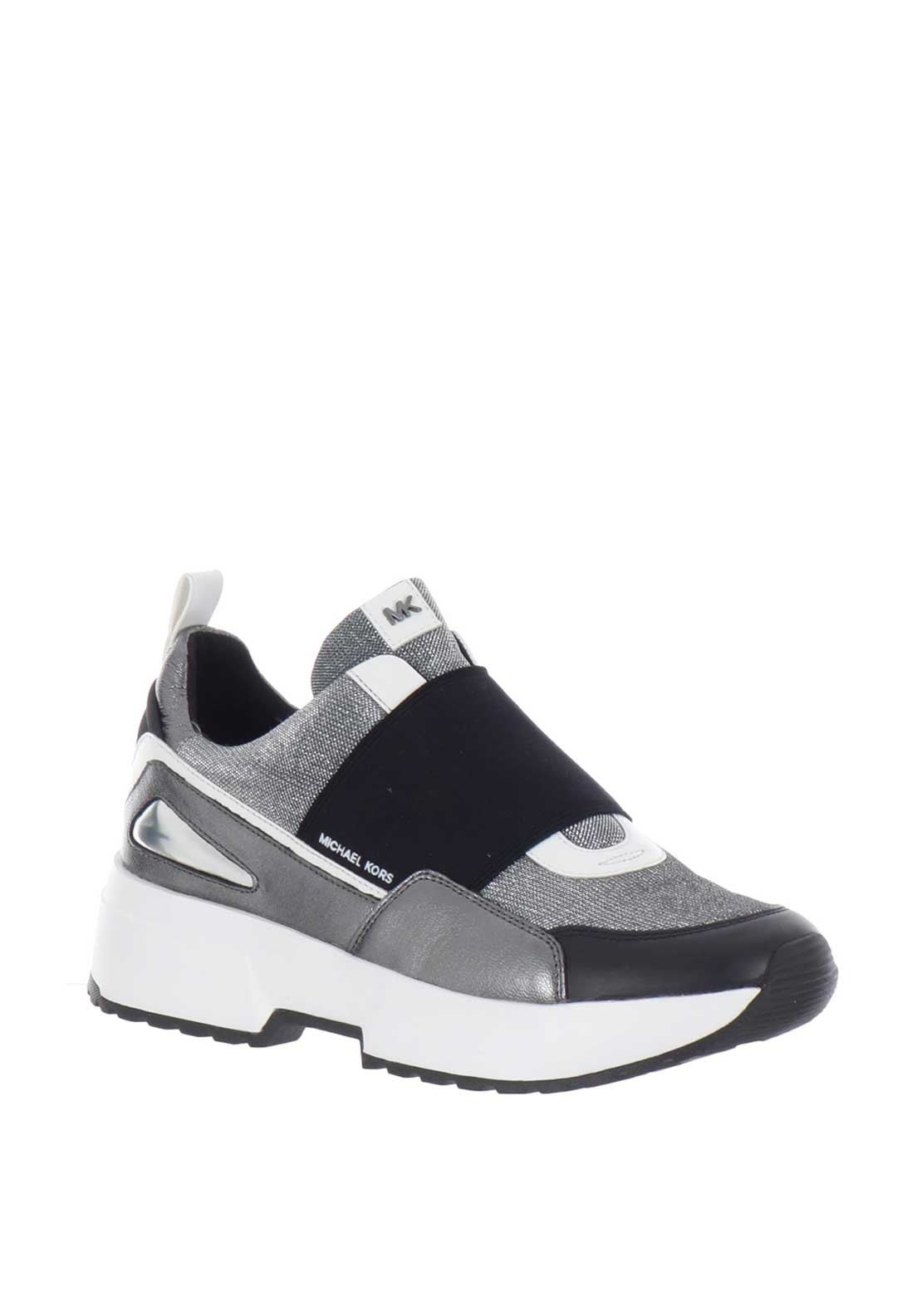 d49ce929e04 MICHAEL Michael Kors Cosmo Slip on Trainers, Silver. Be the first to review  this product