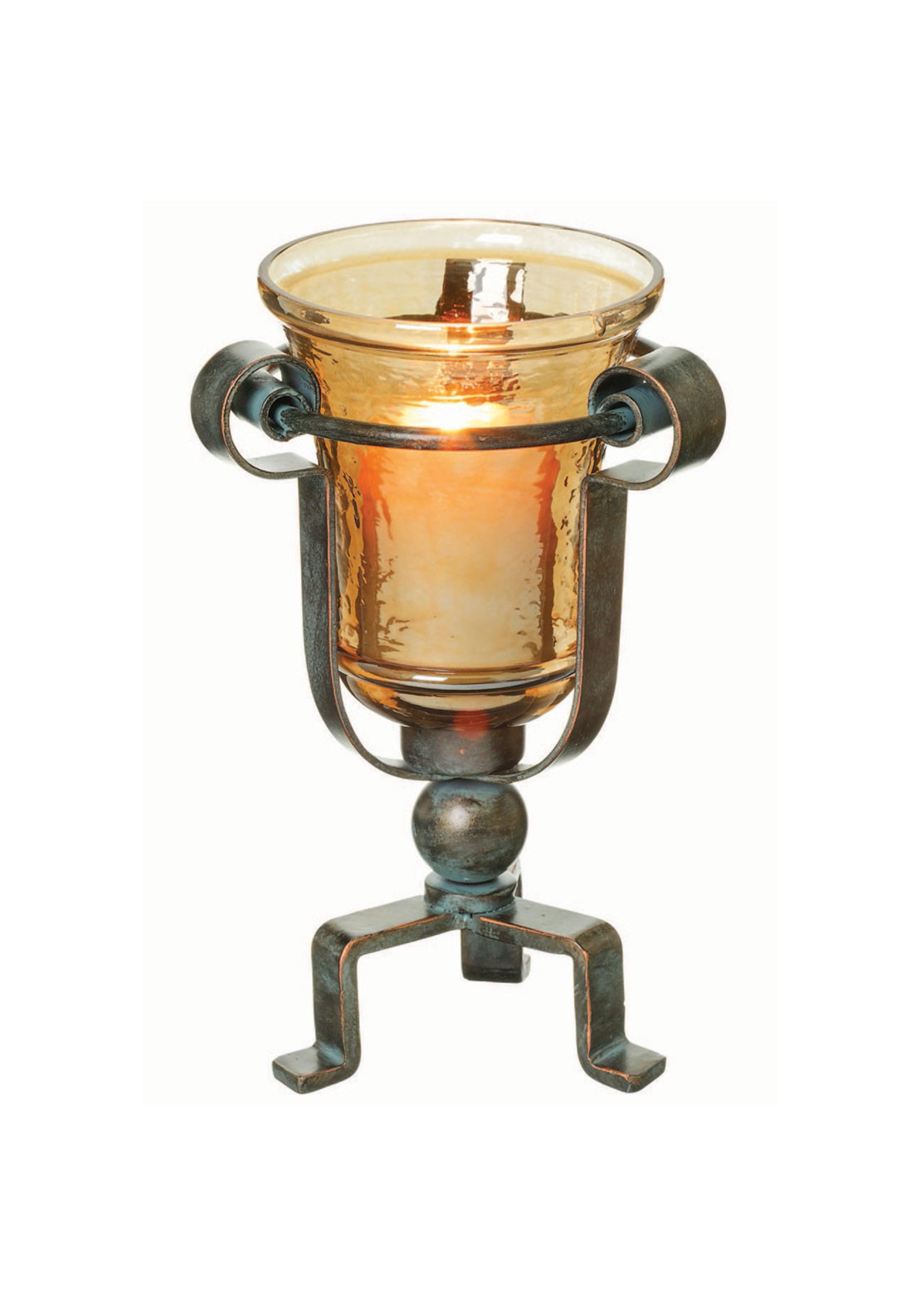 Mindy Brownes Scroll Hurricane Small Candle Holder