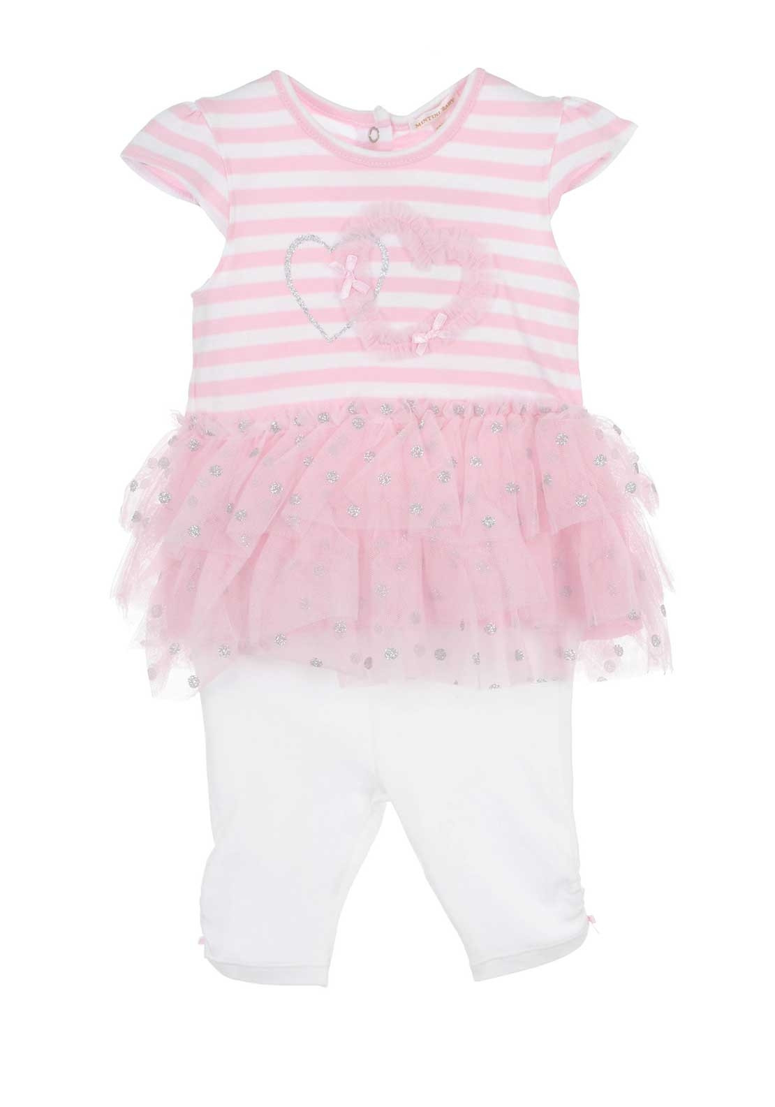 0d83d8cc7e65 Mintini Baby Girls Striped Tulle Dress and Leggings