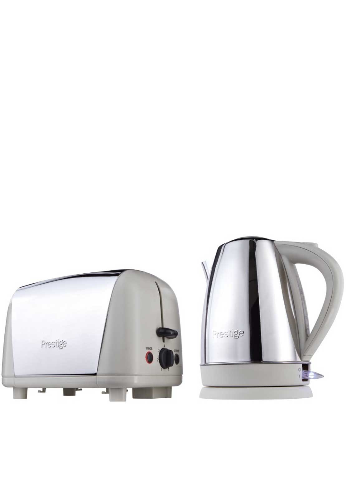 Prestige Stainless Steel Set Kettle and Toaster