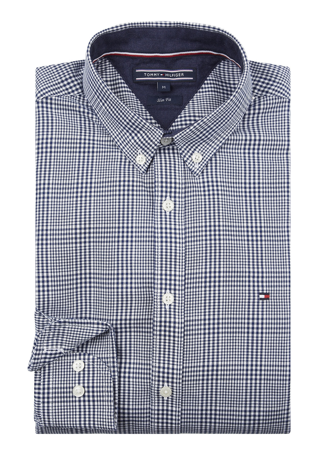 84c1d6aab Tommy Hilfiger Men's Mini Check Print Shirt, Blue. Be the first to review this  product