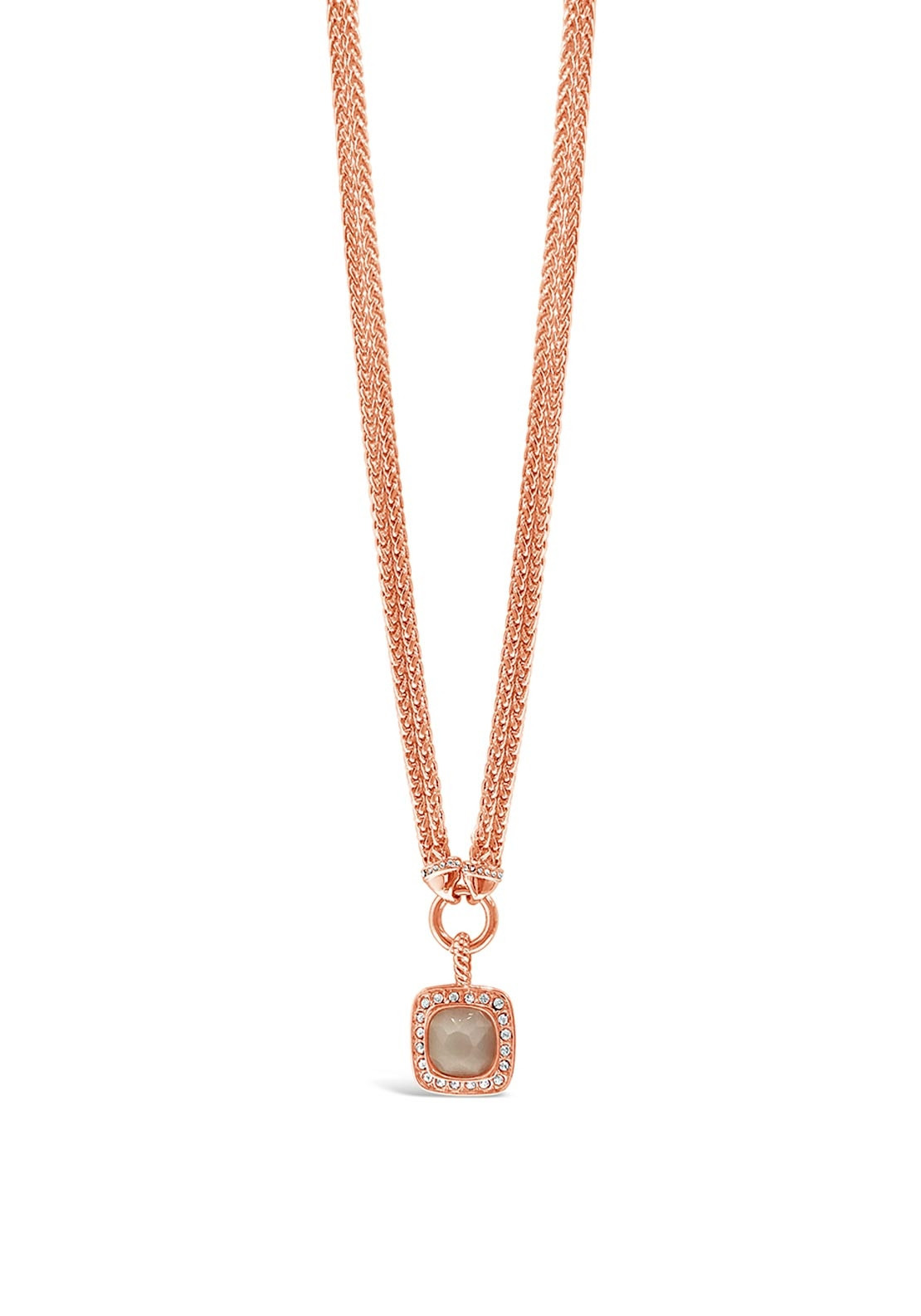 Absolute Blush Stone Necklace Rose Gold McElhinneys