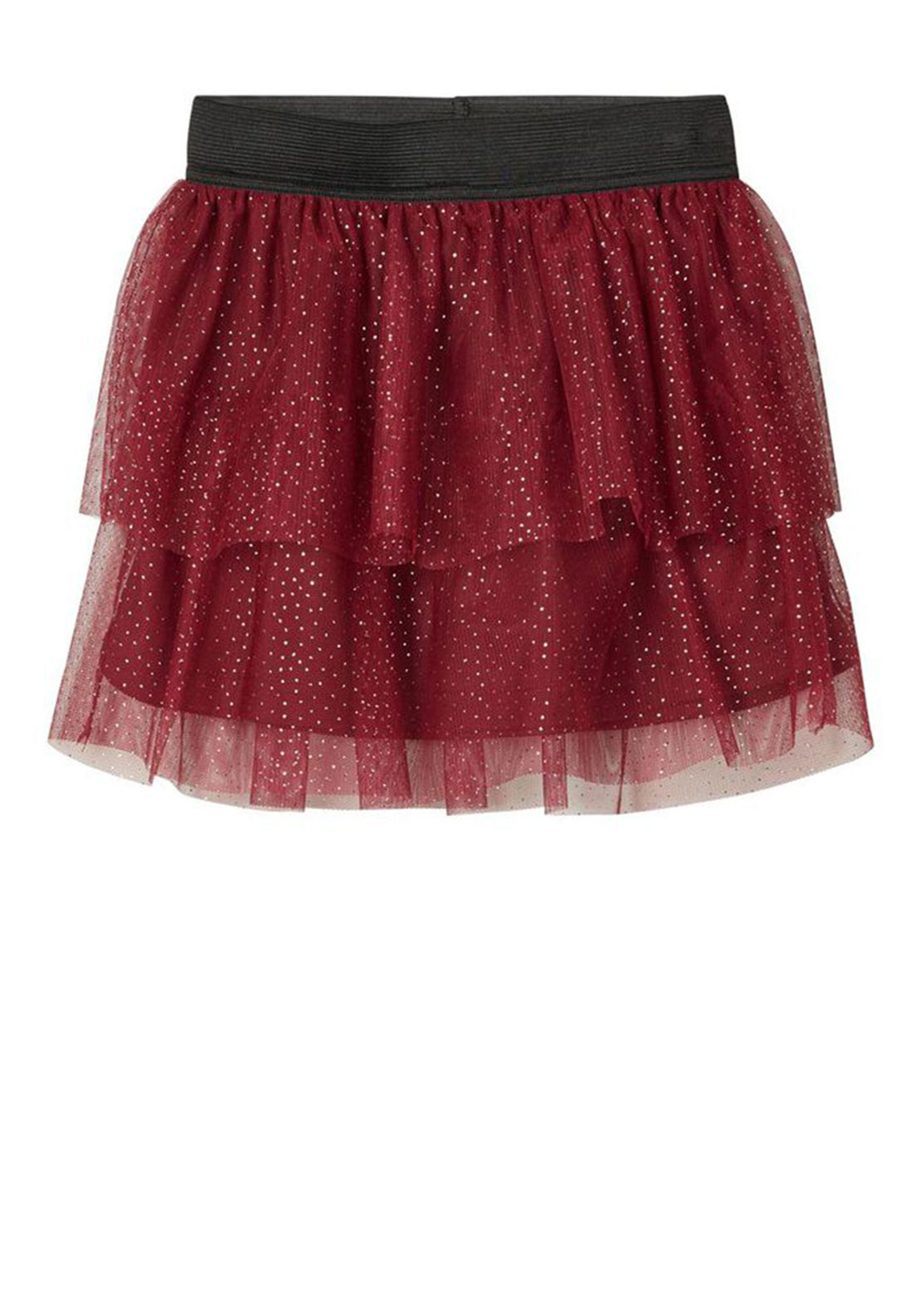 Name It Mini Girls Fritty Dotted Tulle Skirt, Wine