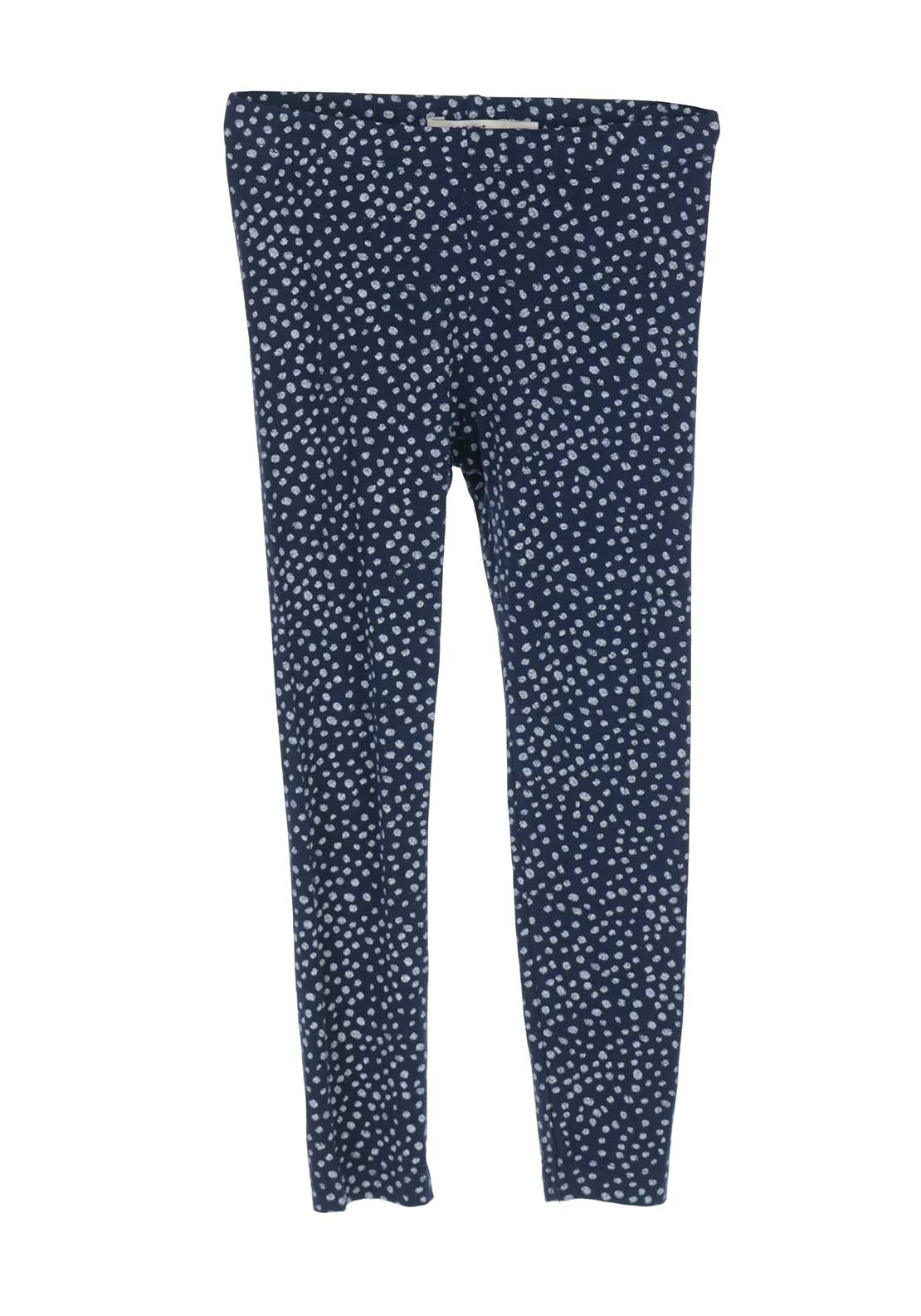Name It Girls Kia Polka Dot Leggings, Navy