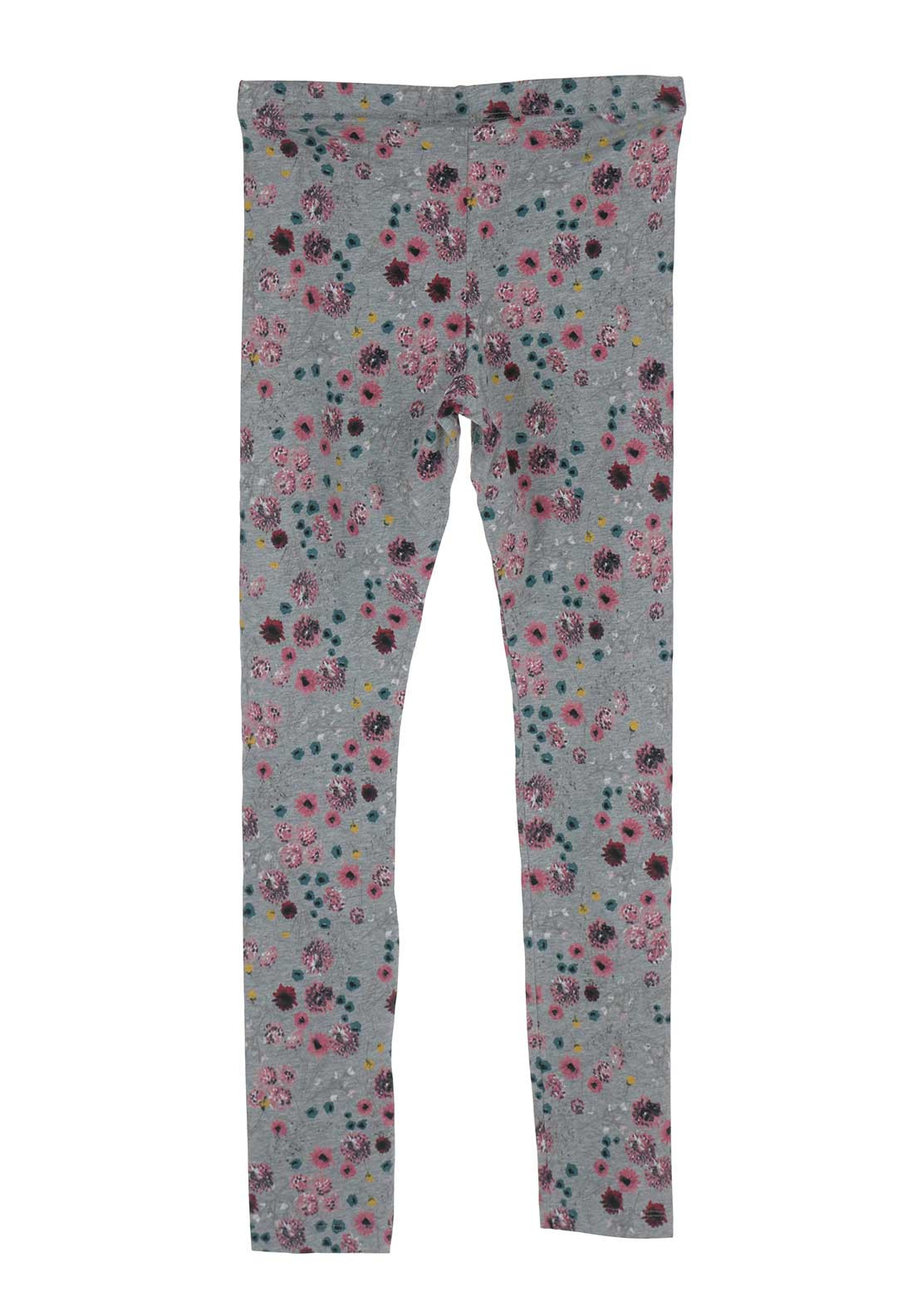 Name It Girls Kulin Floral Leggings, Grey