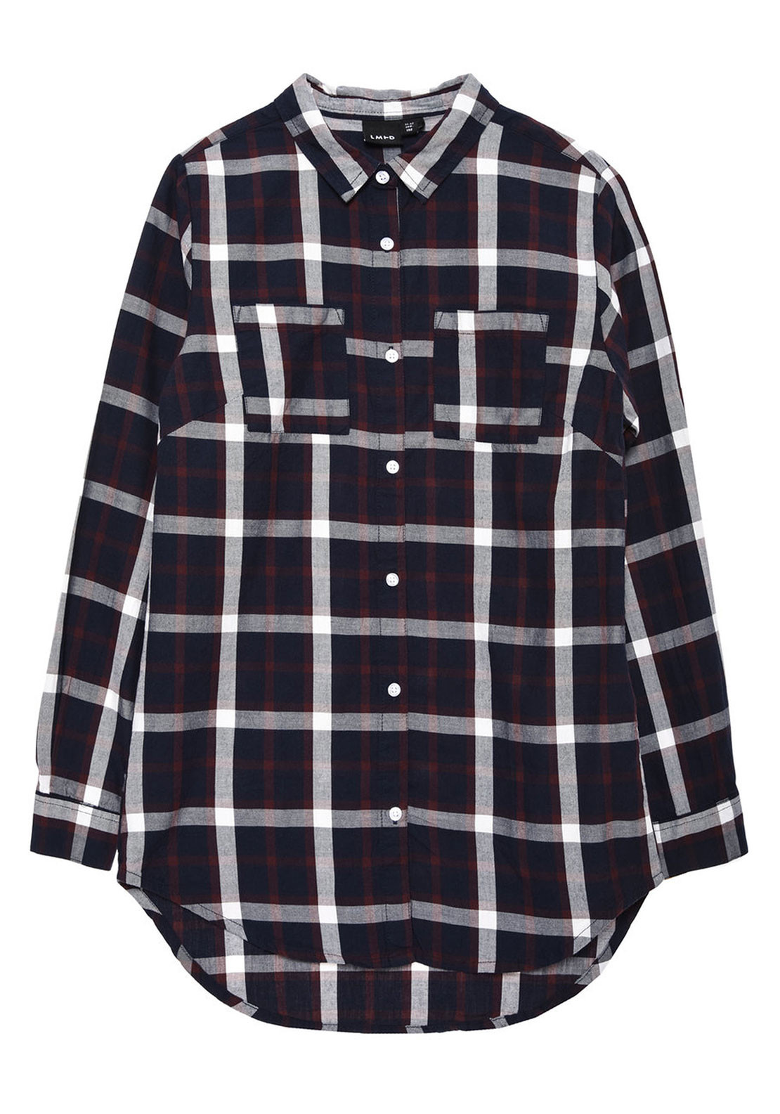 Name It Teen Girls Lamia Chequered Shirt, Navy