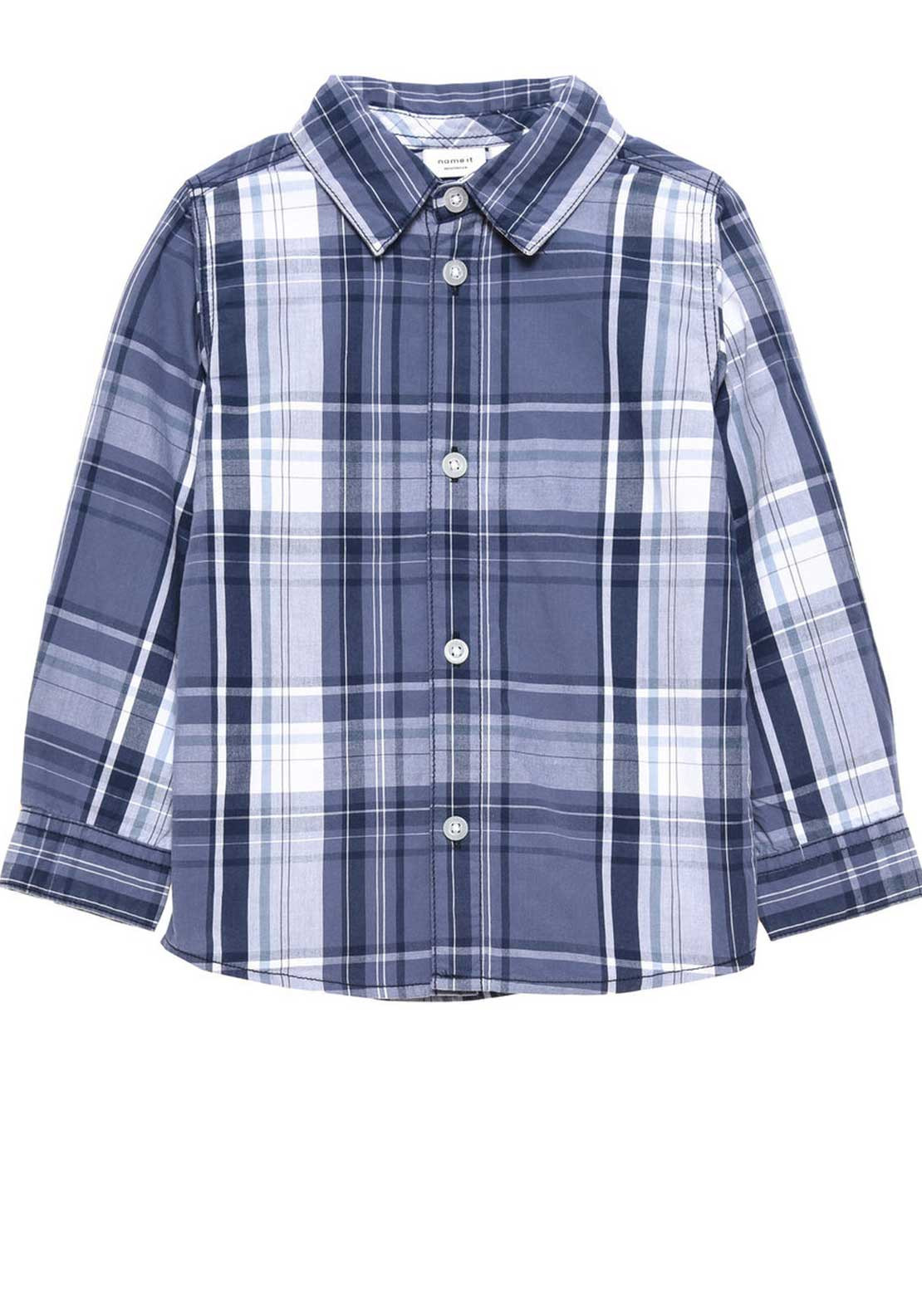 Name It Mini Boys Nohn Check Shirt, Navy