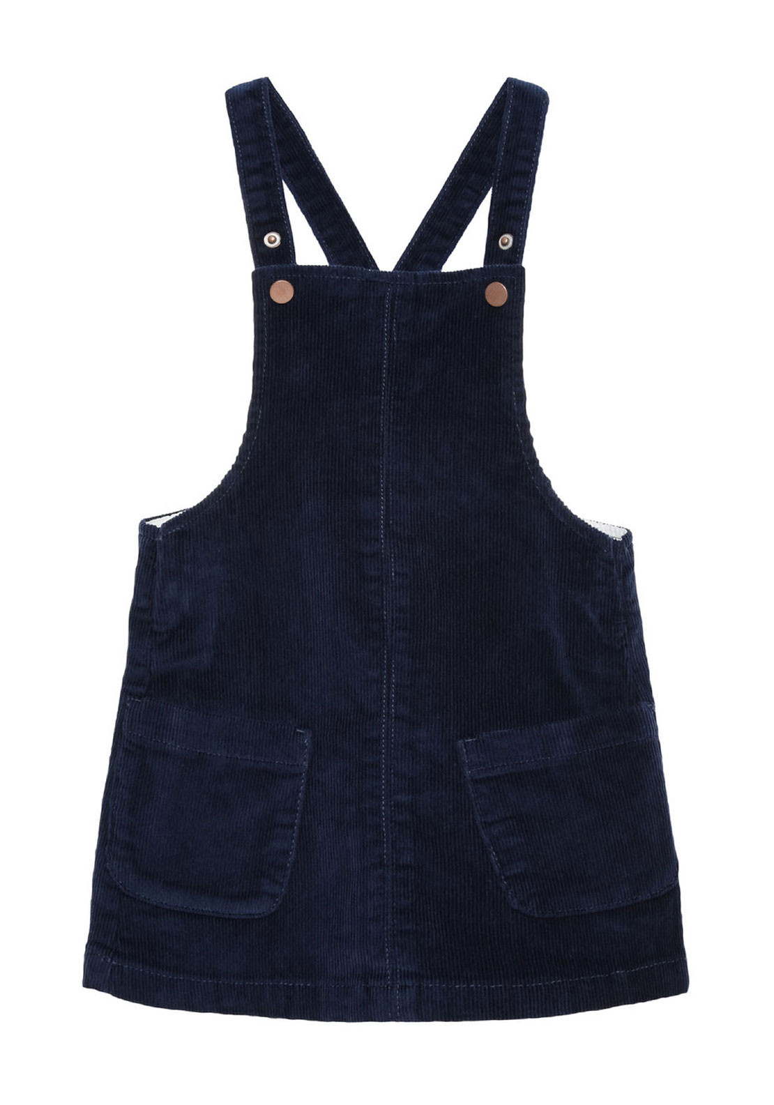 Name It Mini Girls Lone Cord Pinafore Dress, Navy