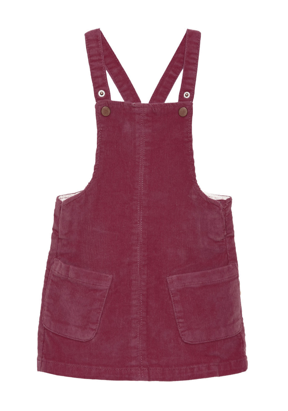 Name It Mini Girls Lone Cord Pinafore Dress, Dark Red