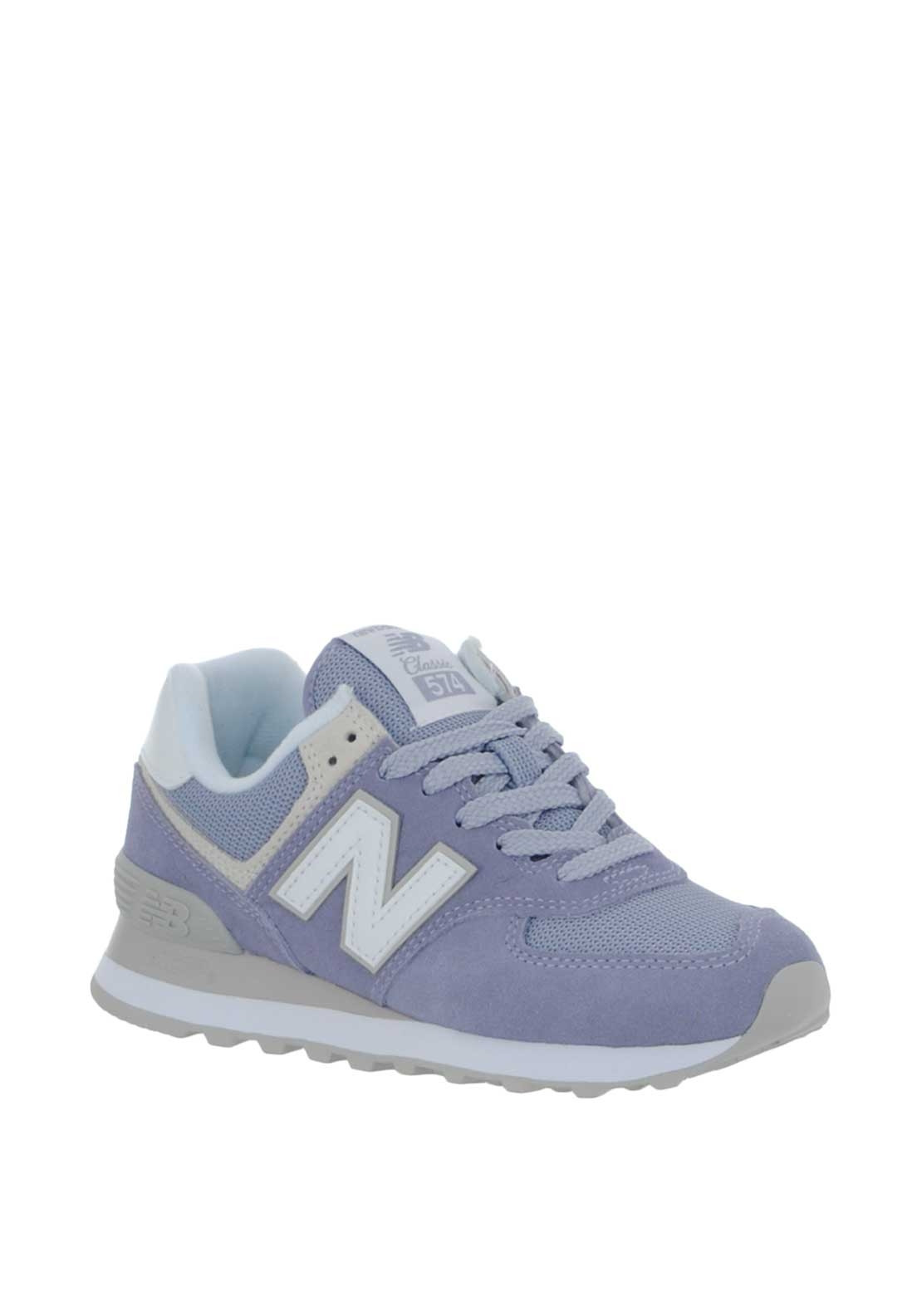 sports shoes 5f615 18490 New Balance Womens 574 Suede Trainers, Lilac