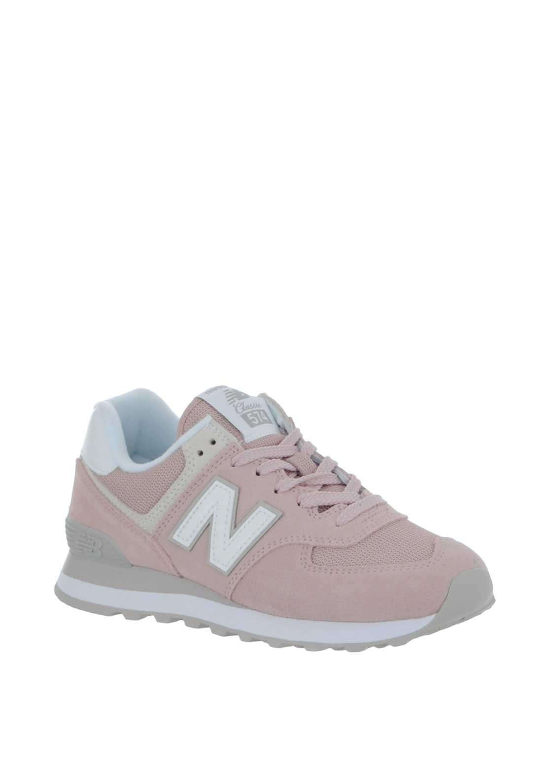 info for 431b8 380a1 New Balance Womens 574 Suede Trainers, Pink
