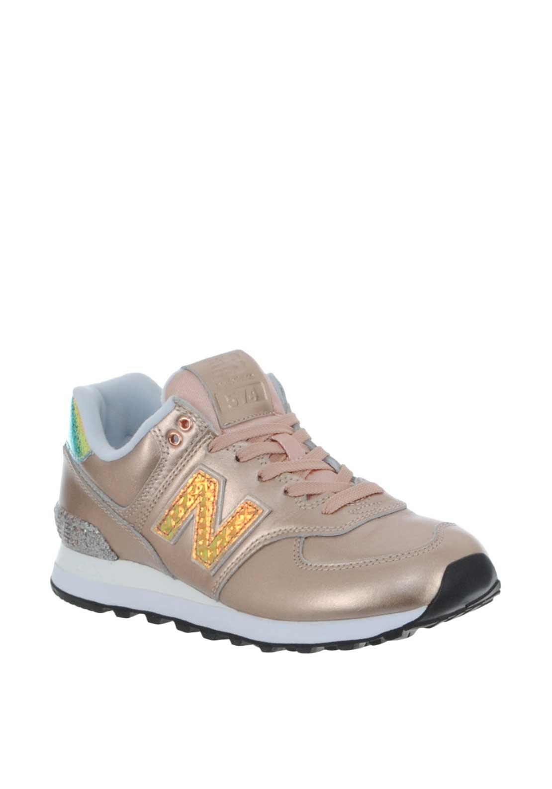 05047ec73dbd New Balance Womens 574 Metallic Trainers