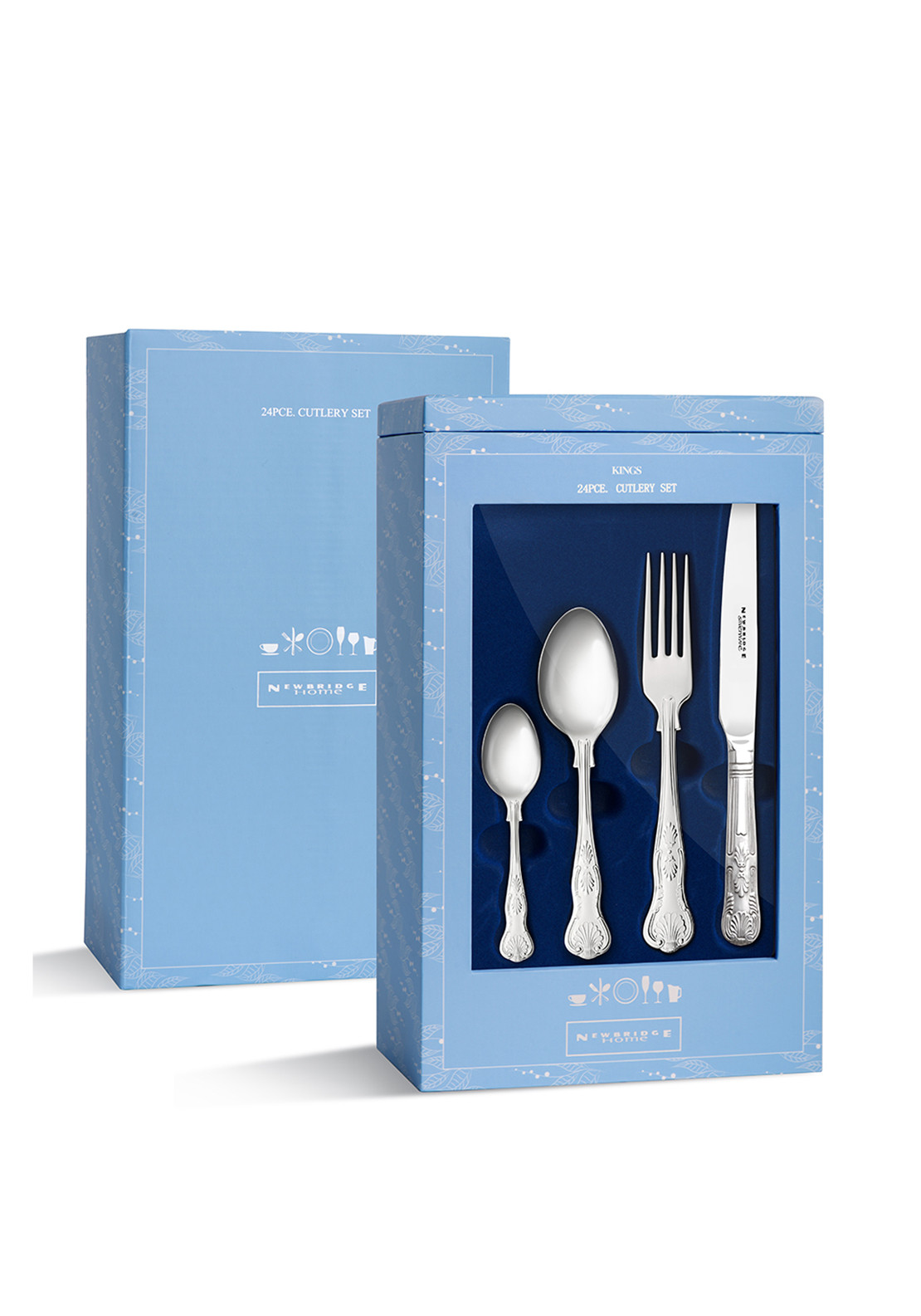 Newbridge Kings Stainless Steel Cutlery Gift Set, 24pce