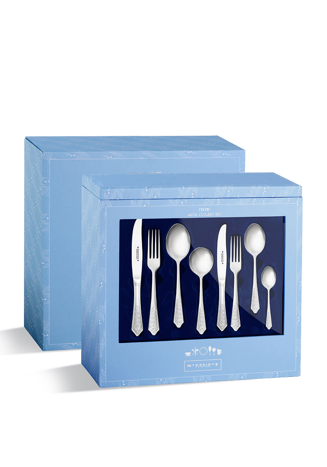 Newbridge Celtic Cutlery Stainless Steel Gift Set, 44pce