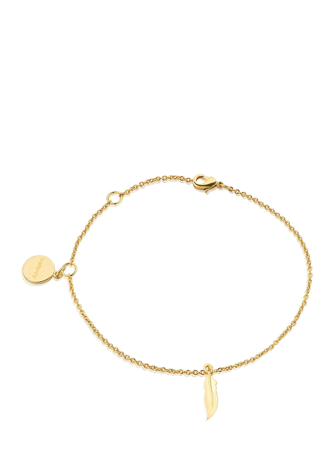 Newbridge Amy Feather Bracelet, Gold
