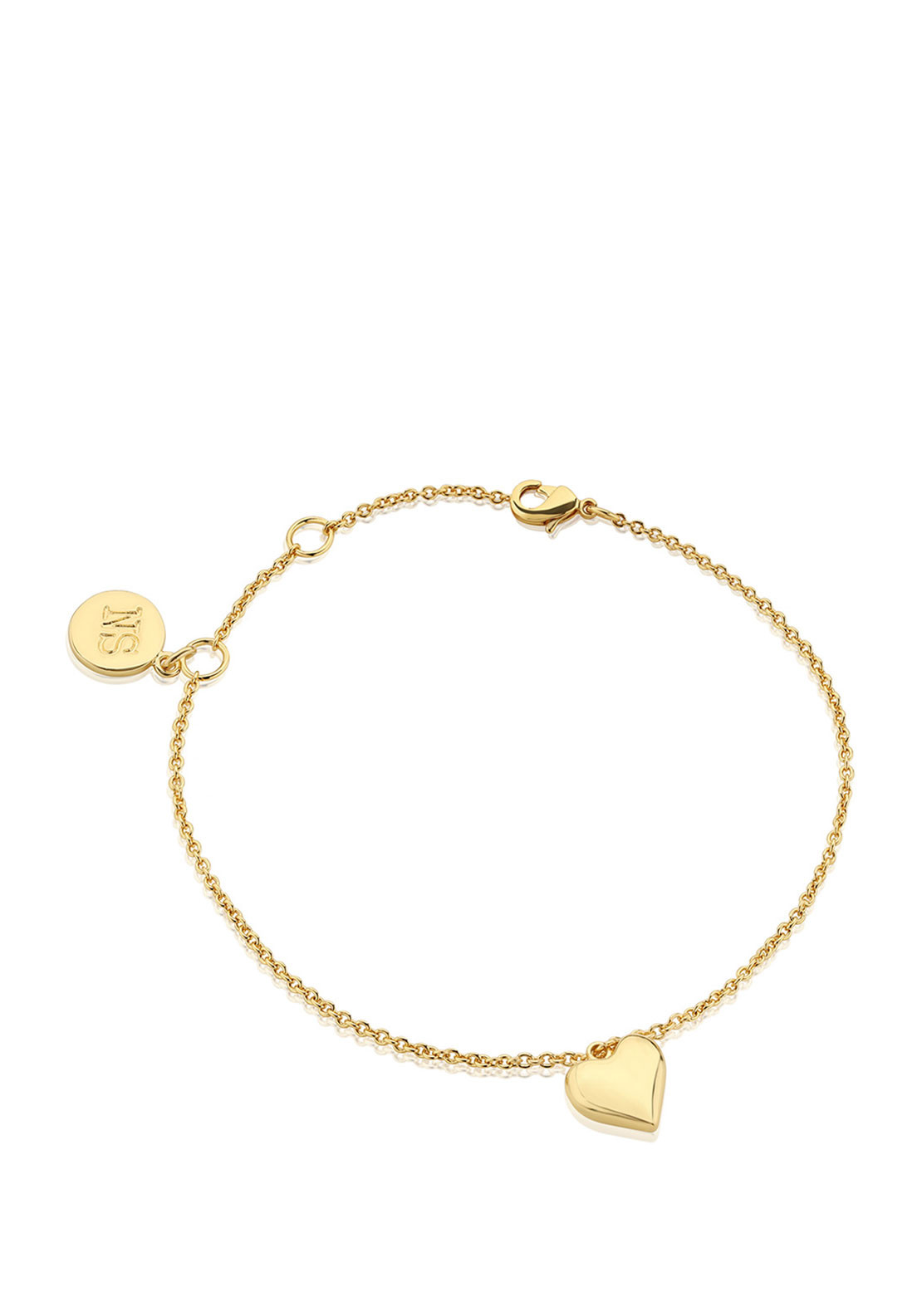 Newbridge Amy Heart Bracelet, Gold