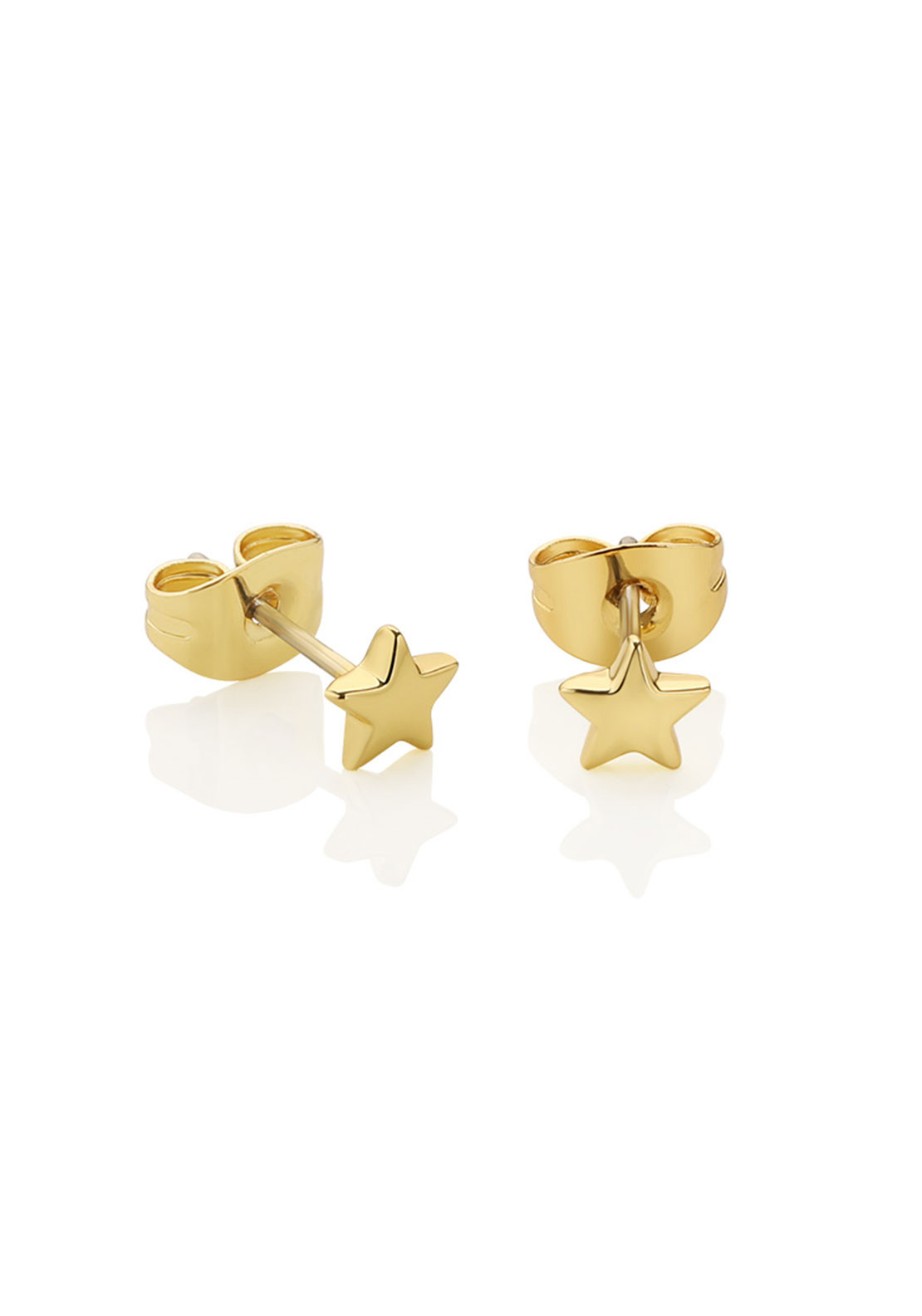 Newbridge Amy Star Stud Earrings, Gold