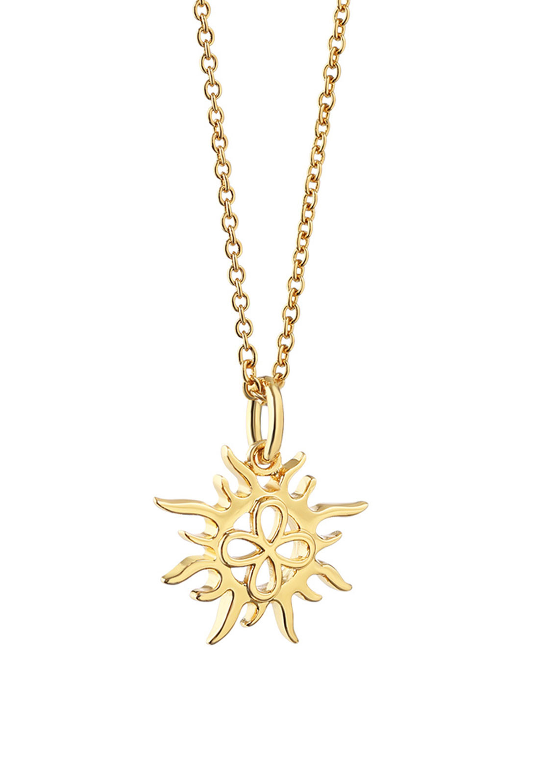 Newbridge Amy Sun Pendant Necklace, Gold