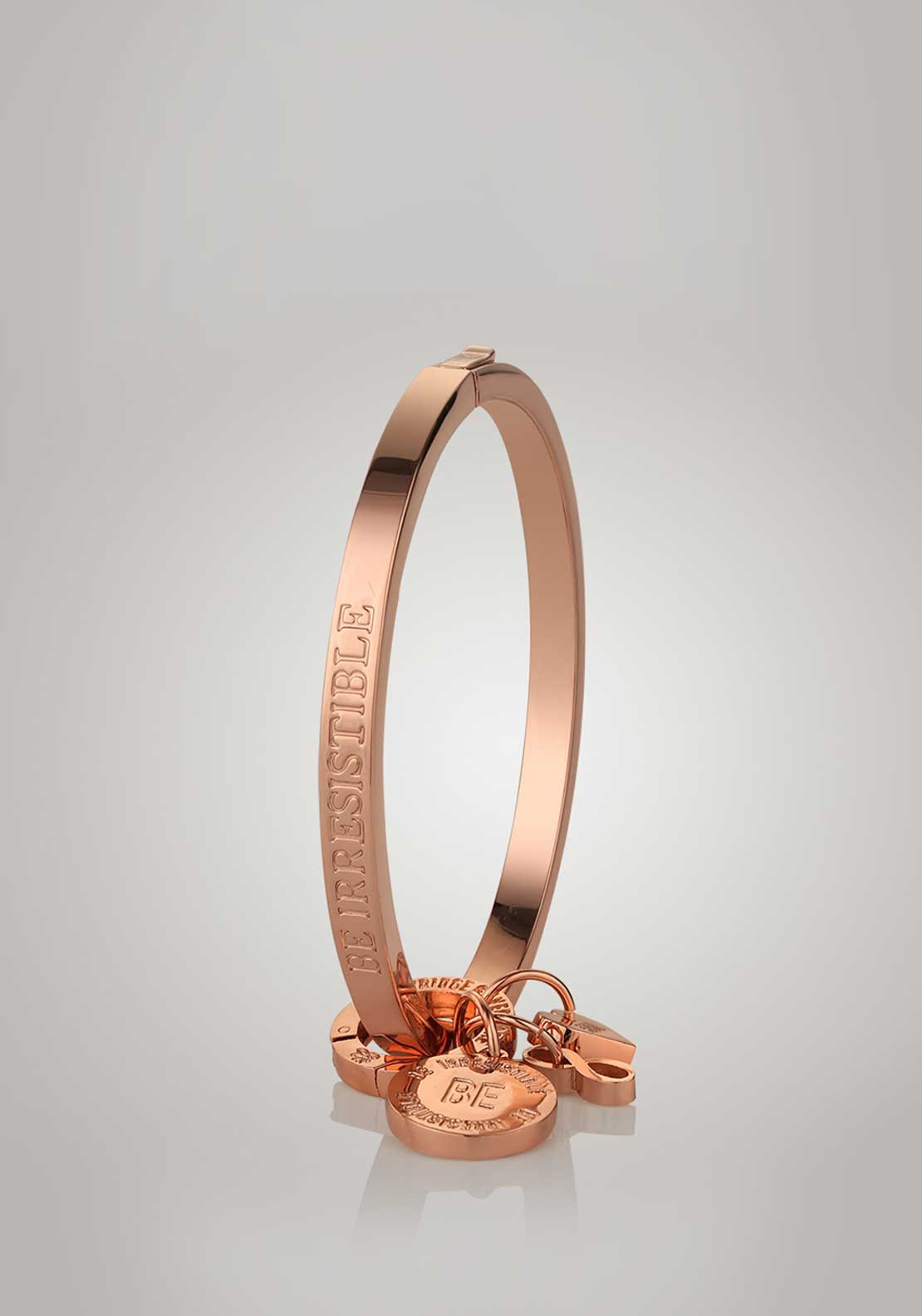 Newbridge Silverware Ti Amo Collection Be Irresistible Bangle, Rose Gold