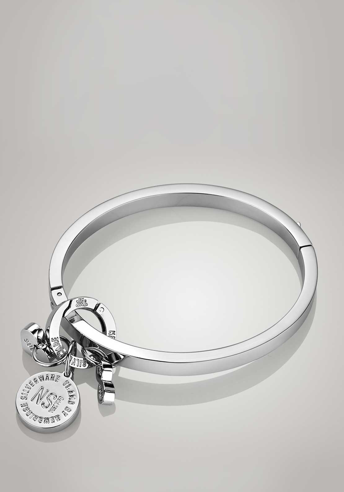 Newbridge Silverware Ti Amo Collection Be Irresistible Bangle, Rhodium